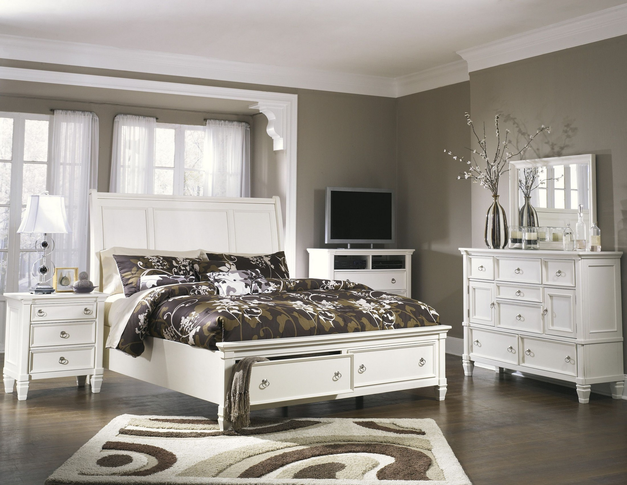 prentice storage sleigh bedroom set from ashley b672 coleman rh colemanfurniture com prentice bedroom set white prentice bedroom set on sale