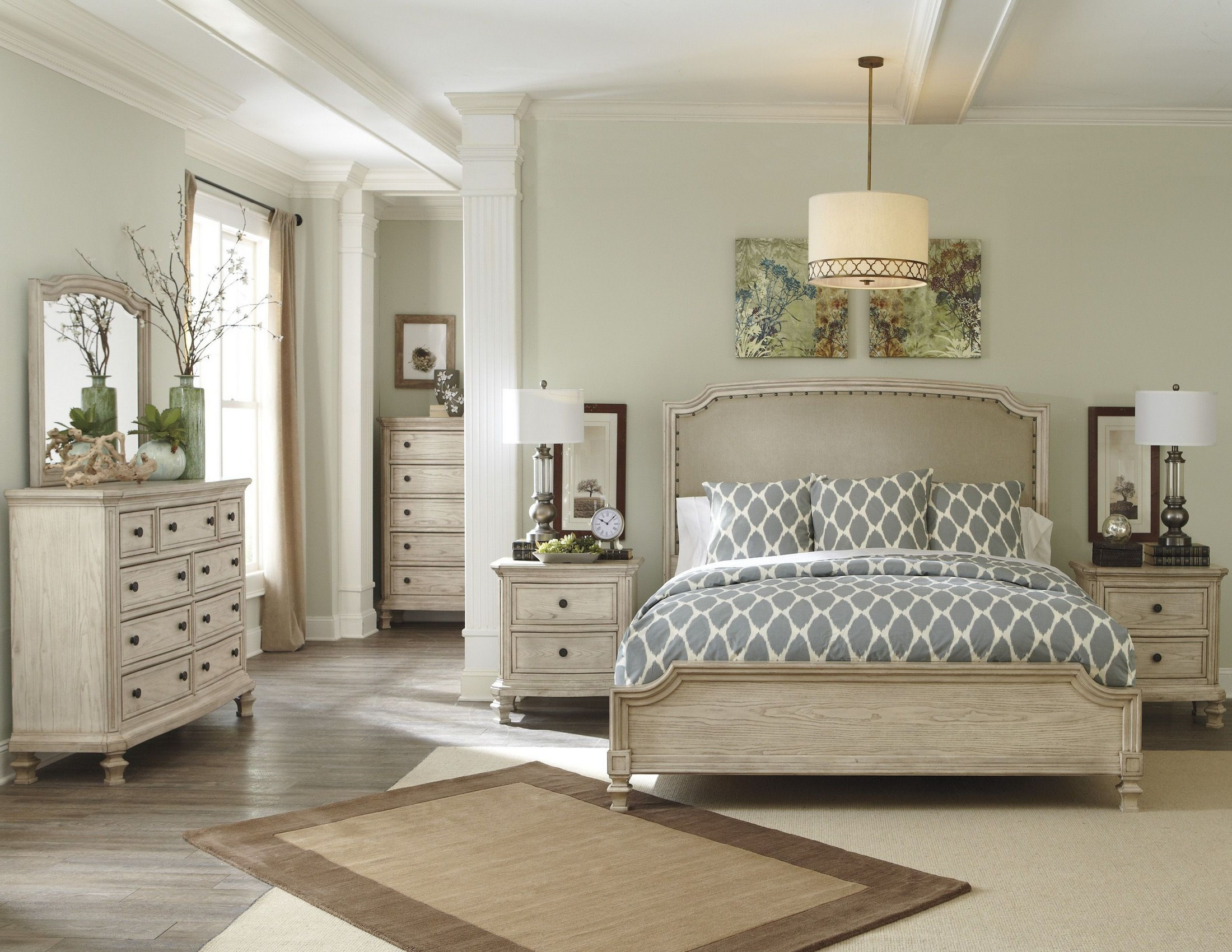 demarlos upholstered panel bedroom set from ashley b693 13696 | b693 31 36 46 78 76 97 92 2 9