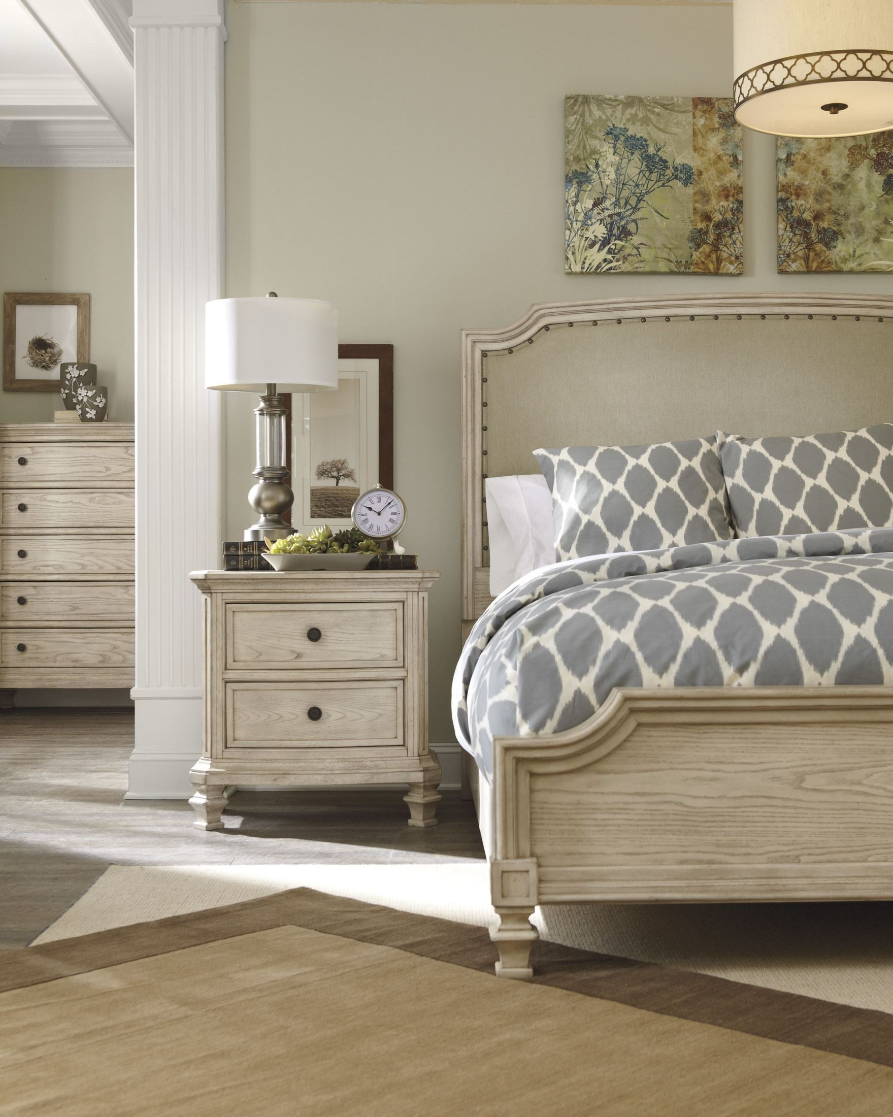 Demarlos Cal King Upholstered Panel Bed From Ashley B693 76 78 94 Coleman Furniture