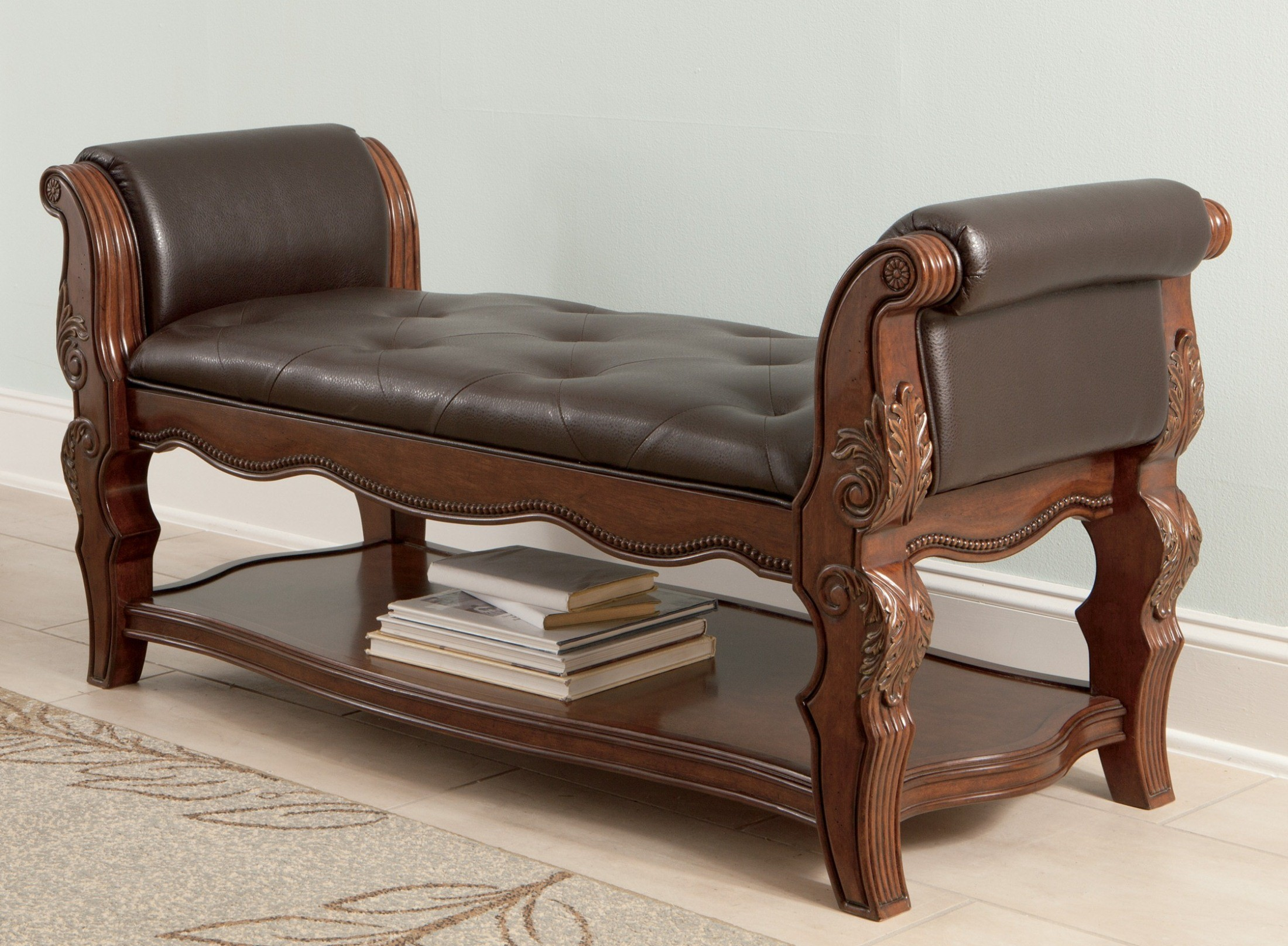 Ledelle Upholstered Bench From Ashley B705 09 Coleman Furniture