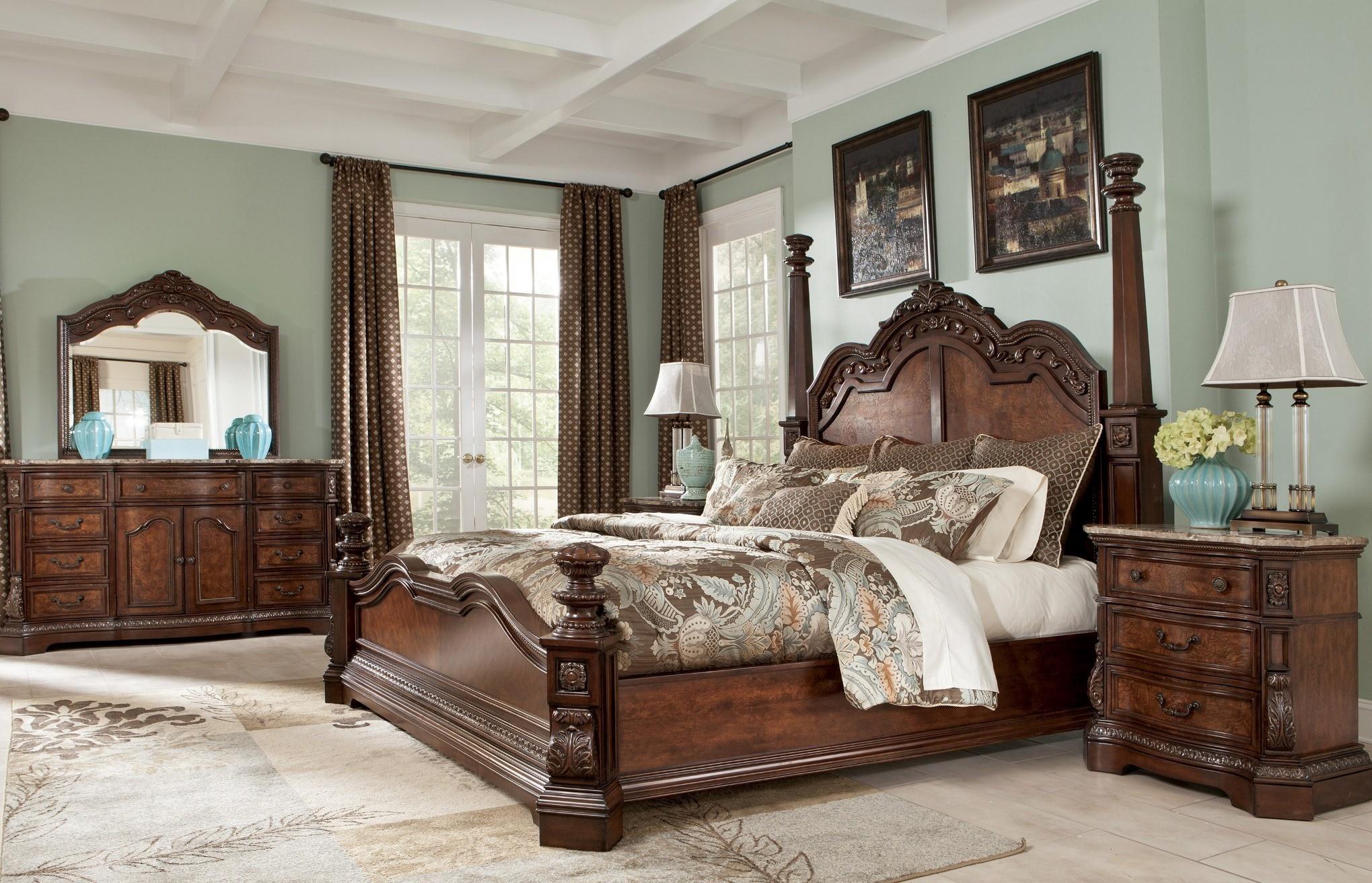 Ledelle Poster Bedroom Set From Ashley B705 51 71 98 Coleman Furniture