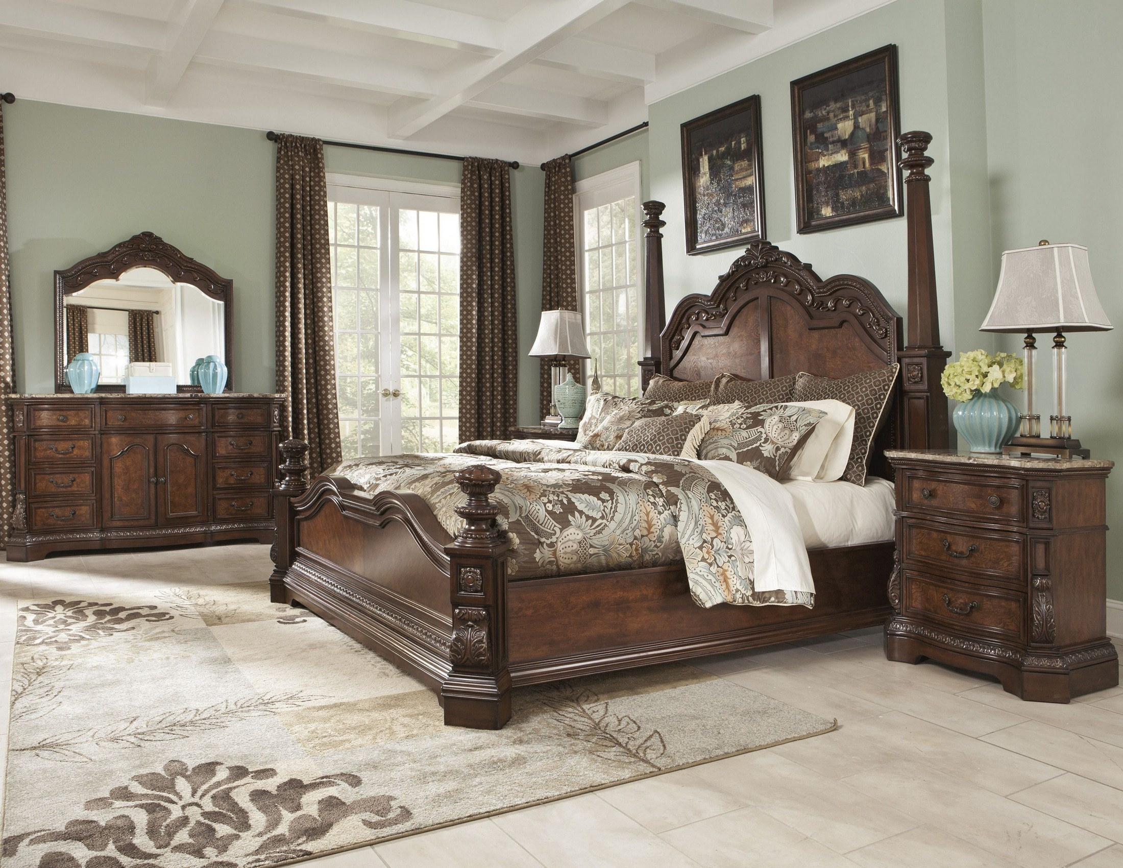 Ledelle poster bedroom set from ashley b705 51 71 98 - Ashley furniture bedroom packages ...