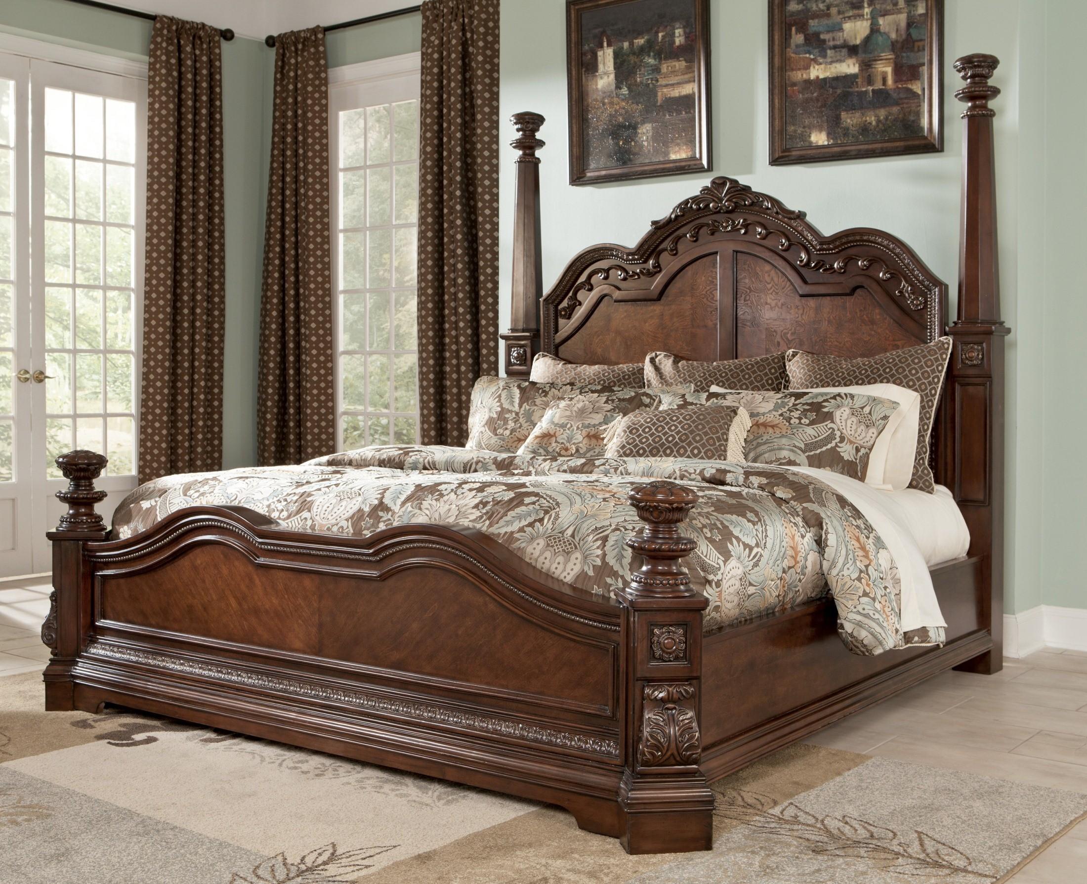 ledelle king poster bed from ashley b705517299