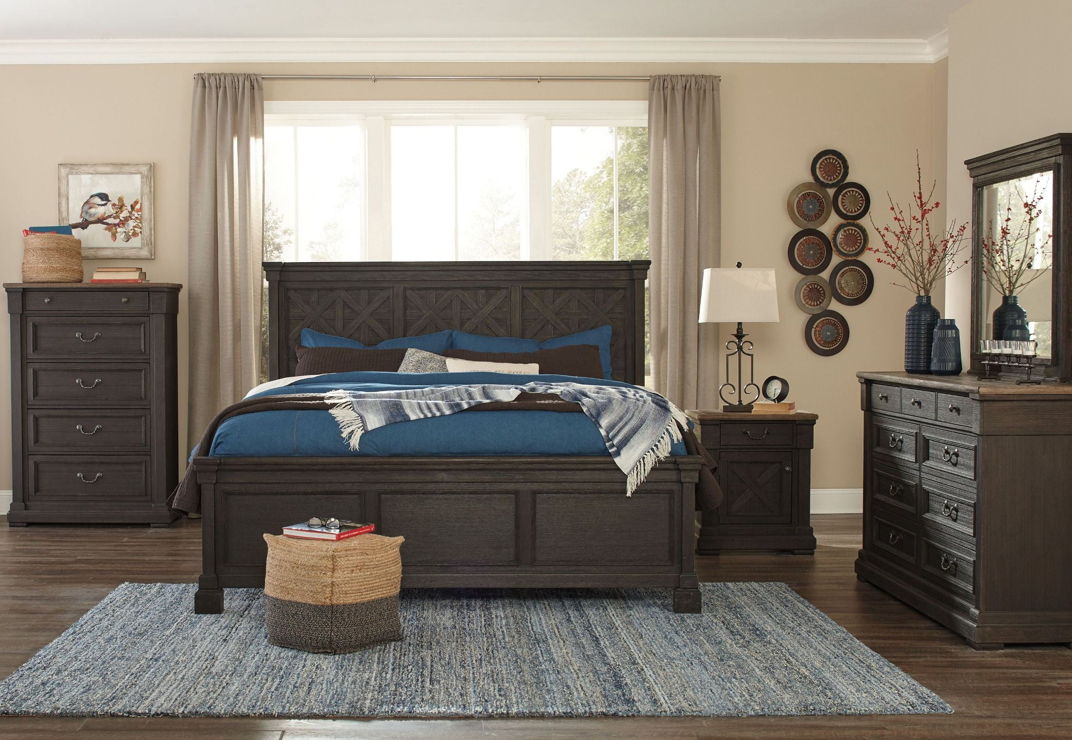 Tyler Creek Black Panel Bedroom Set from Ashley | Coleman Furniture
