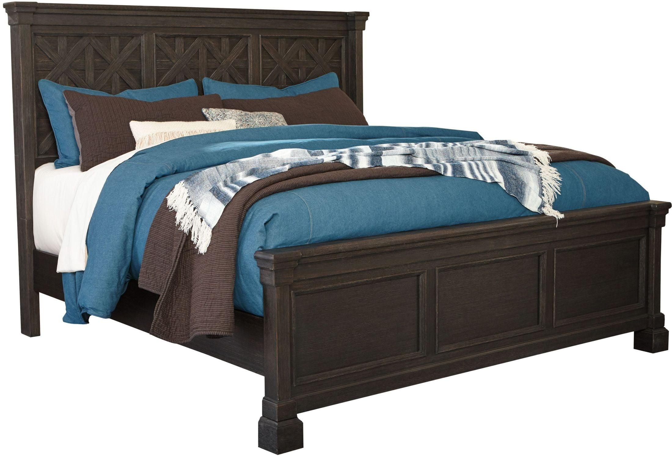 Tyler Creek Black King Panel Bed From Ashley Coleman