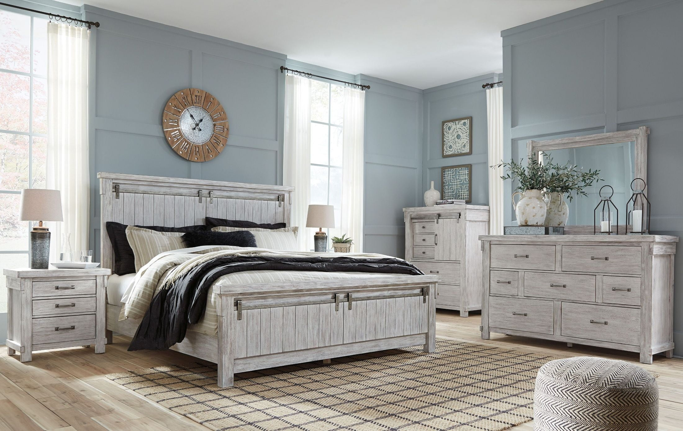 brashland white panel bedroom set from ashley coleman furniture. Black Bedroom Furniture Sets. Home Design Ideas