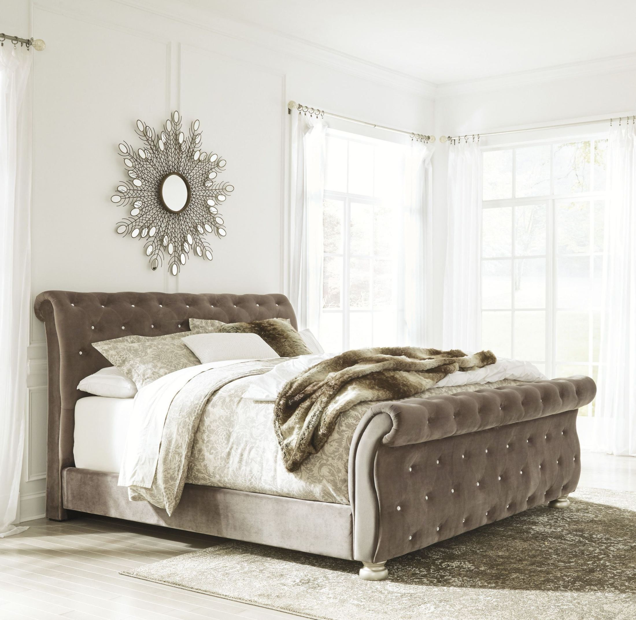 Cassimore North Shore Pearl Silver King Upholstered Bed from