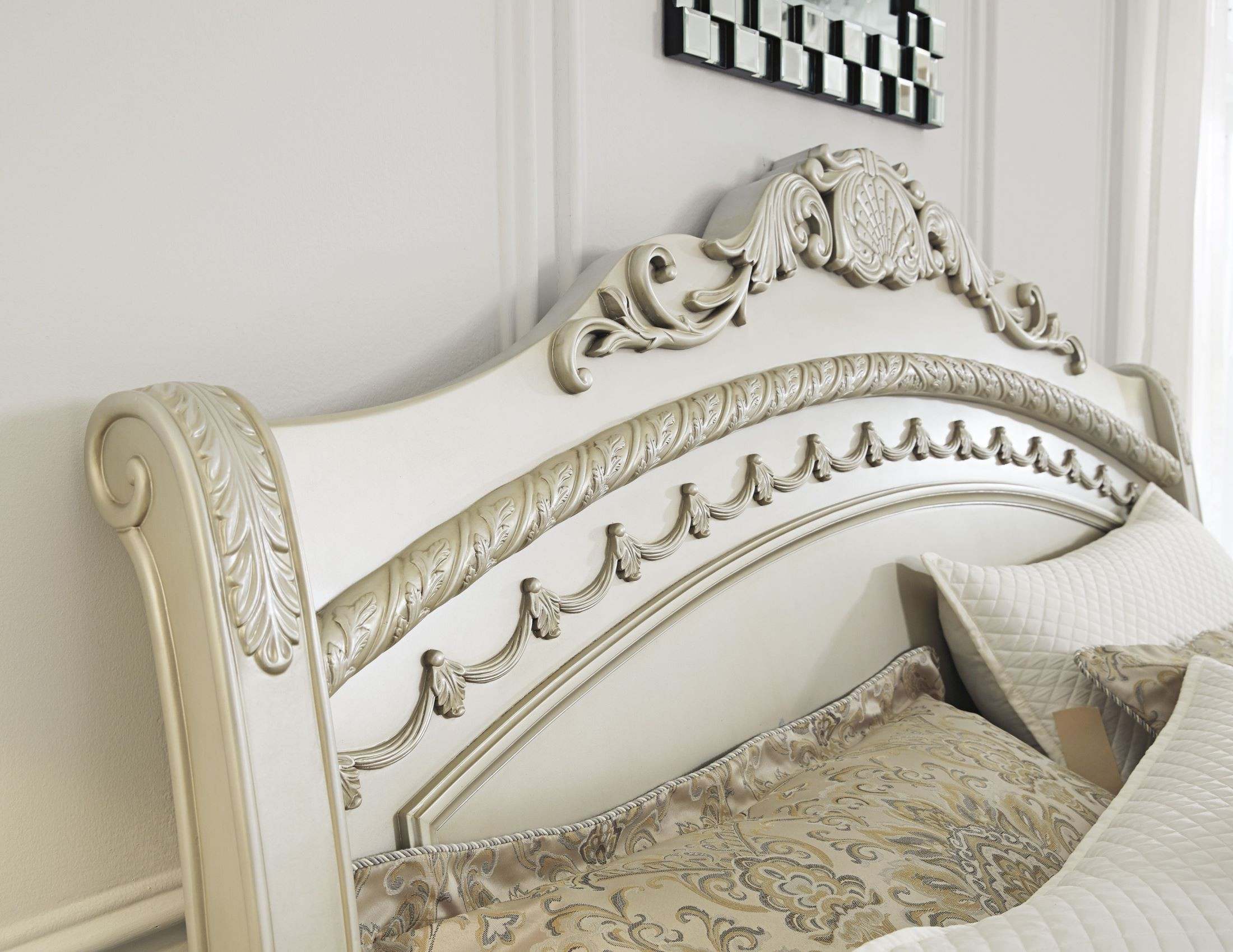 Cassimore North Shore Pearl Silver King Sleigh Bed From Ashley Coleman Furniture