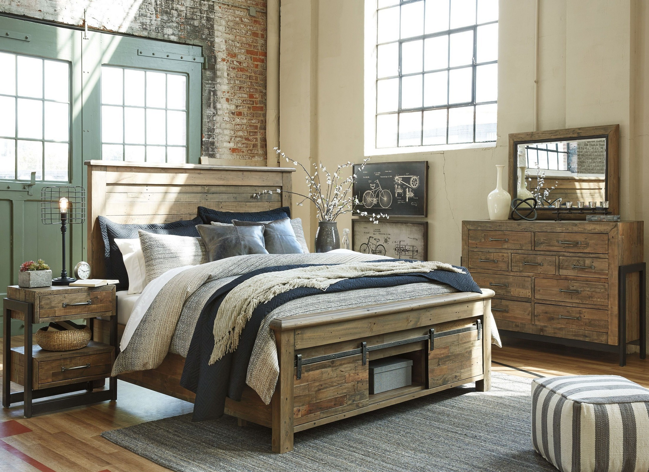 Sommerford Brown Storage Panel Bedroom Set from Ashley Coleman