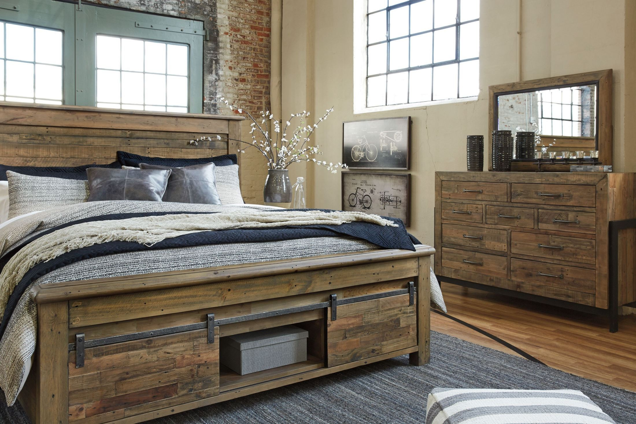 Sommerford Brown King Storage Panel Bed From Ashley