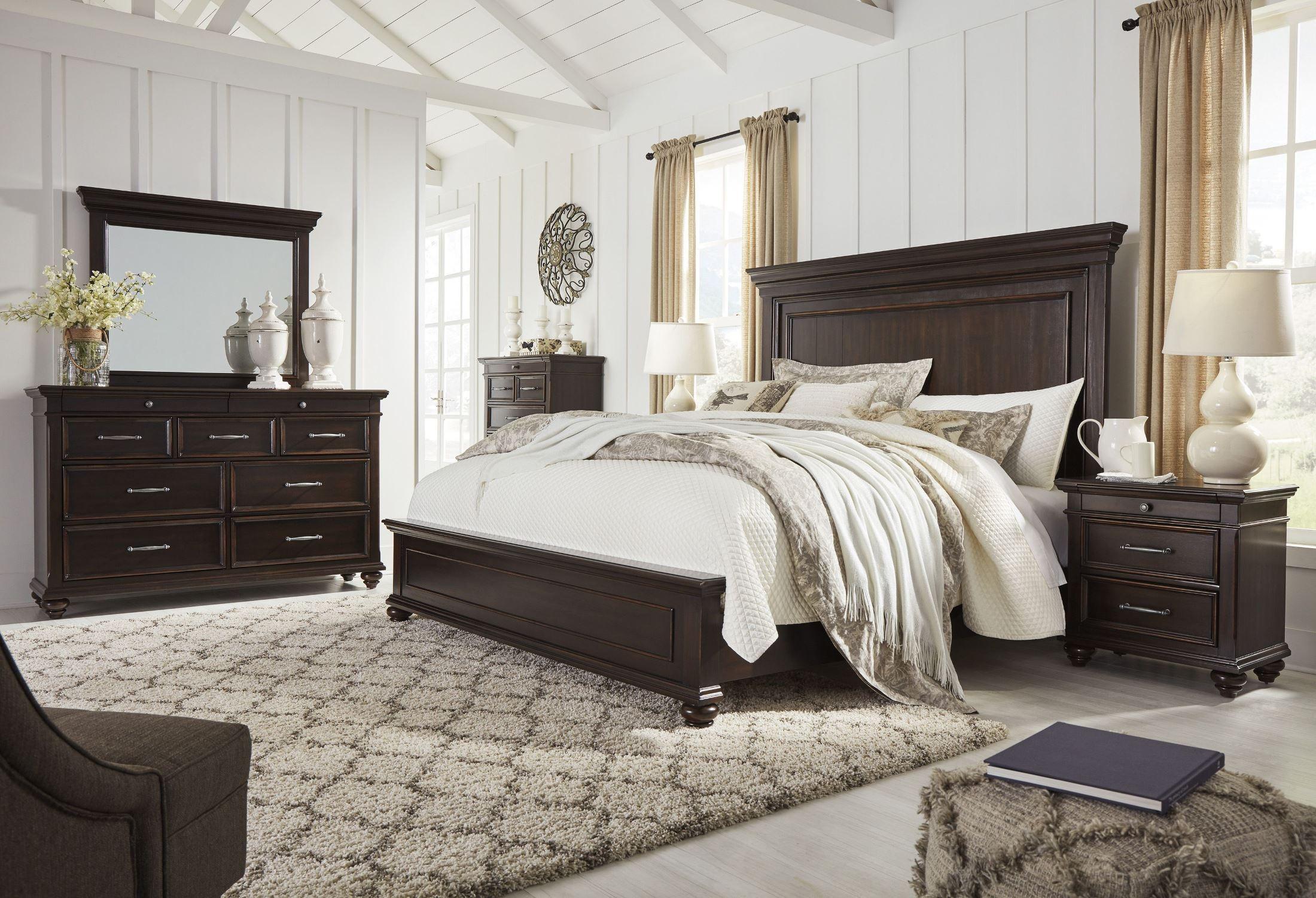Brynhurst Dark Brown Panel Bedroom Set From Ashley