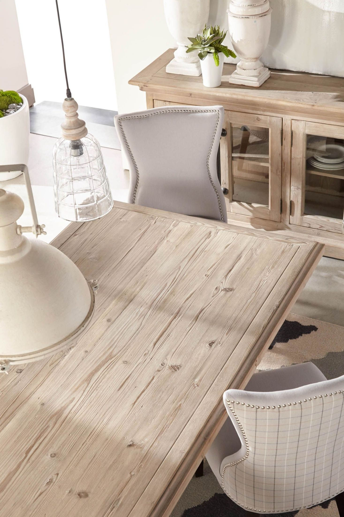 Bastille Smoke Gray Rectangle Dining Table From Orient