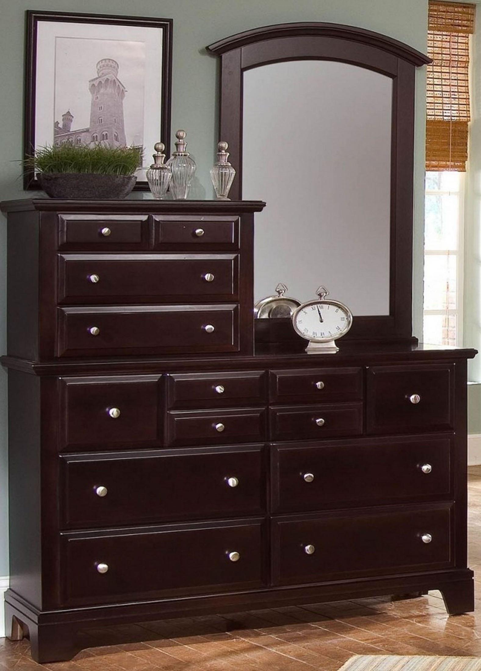 Hamilton Franklin Merlot 10 Drawer Vanity Dresser From Virginia House Coleman Furniture
