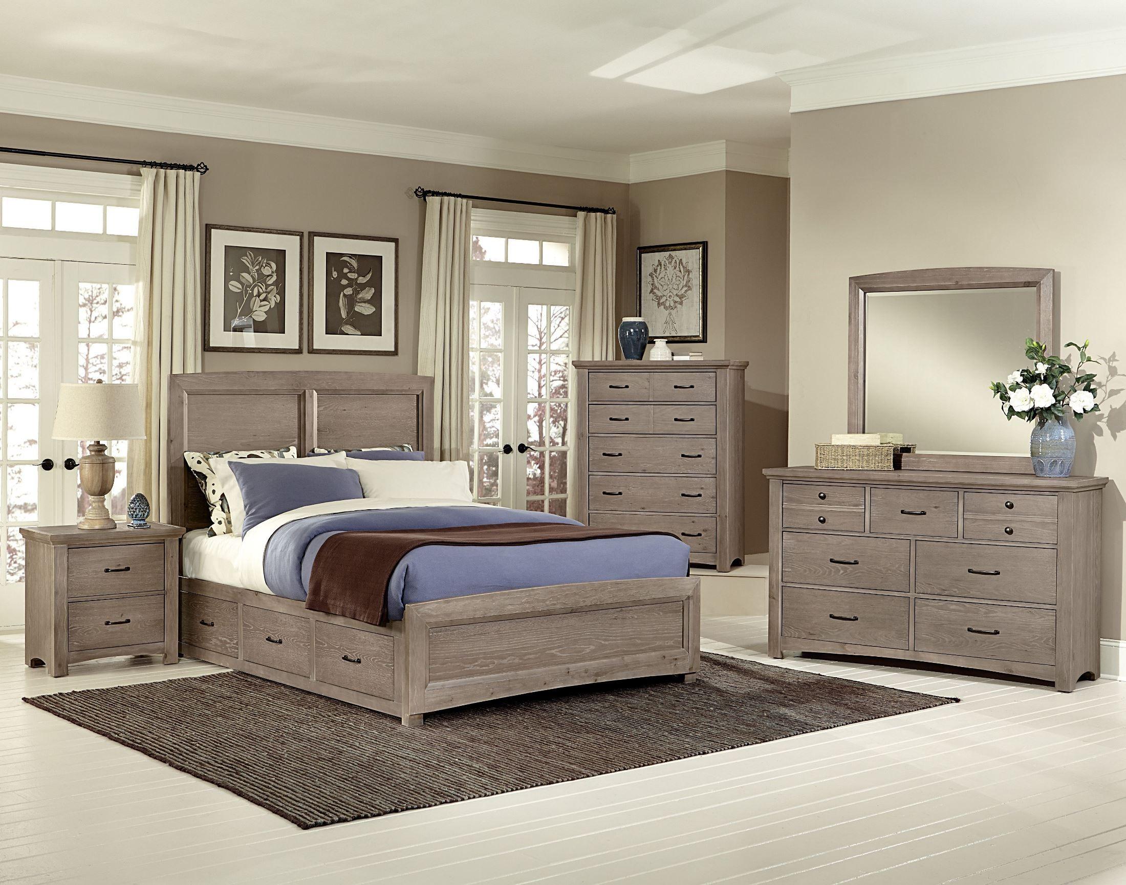 transitions driftwood oak two side storage panel bedroom