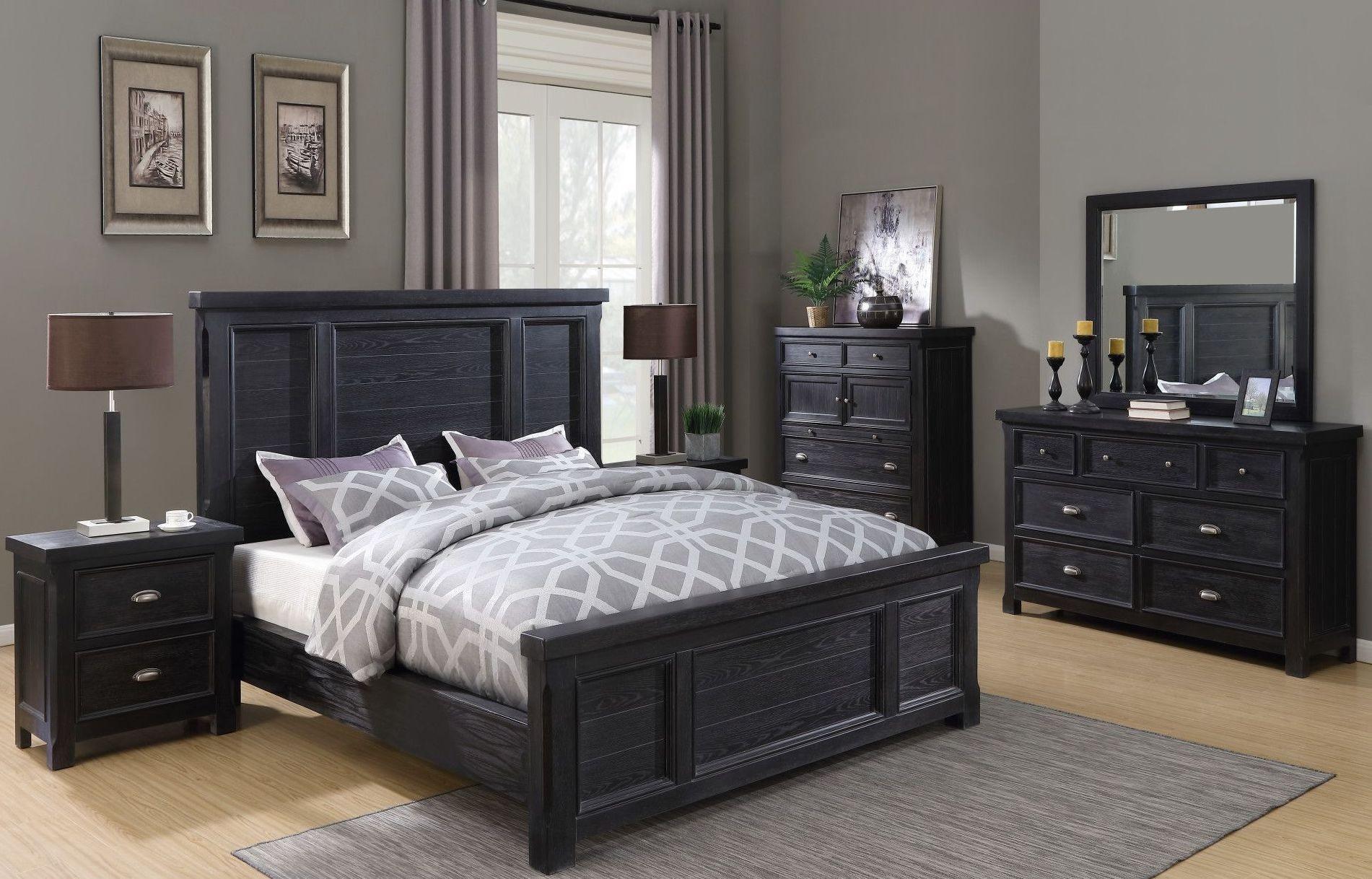 warwick cracked pepper panel bedroom set b836 10 k b836 04 emerald home furnishings. Black Bedroom Furniture Sets. Home Design Ideas