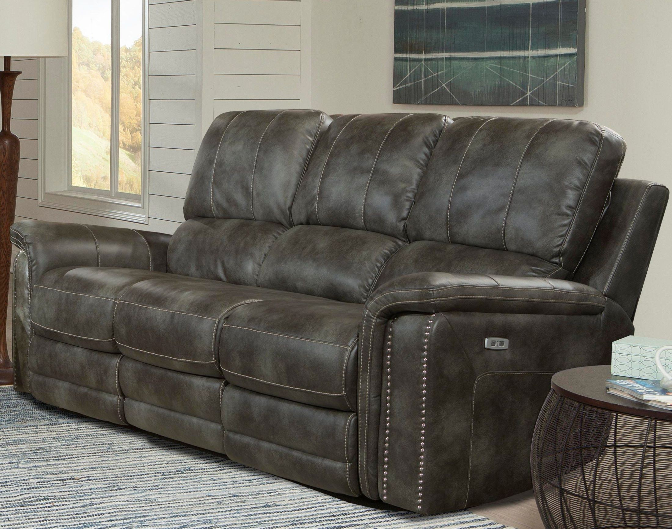 Belize Ash Dual Power Reclining Sofa From Parker Living