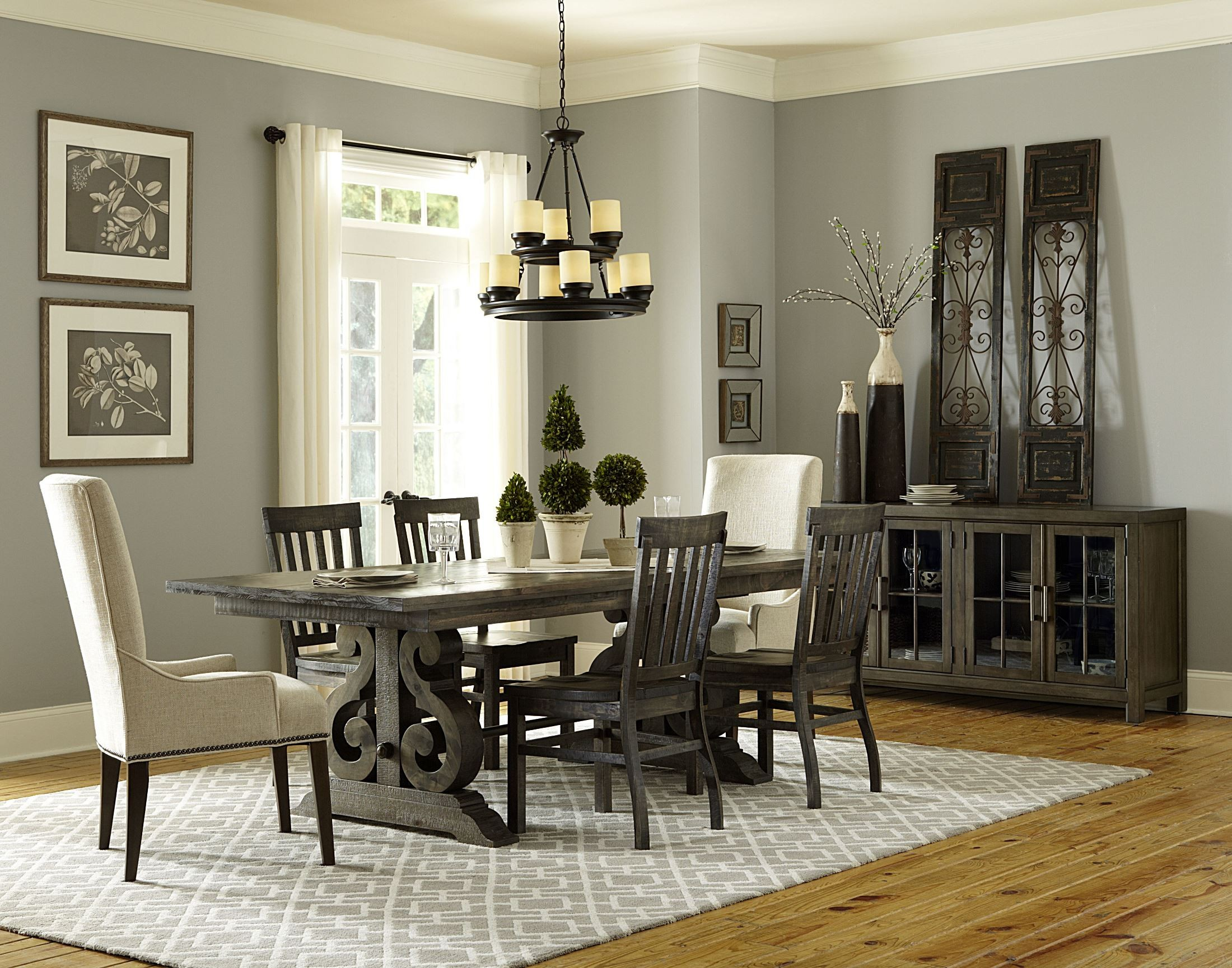 bellamy rectangular dining room set from magnussen home d2491 20t 20b coleman furniture. Black Bedroom Furniture Sets. Home Design Ideas