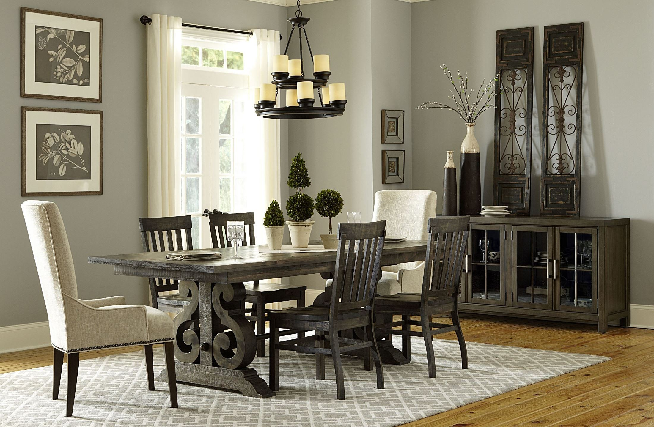 bellamy rectangular dining room set from magnussen home d2491 20t bellamy rectangular extendable dining room set