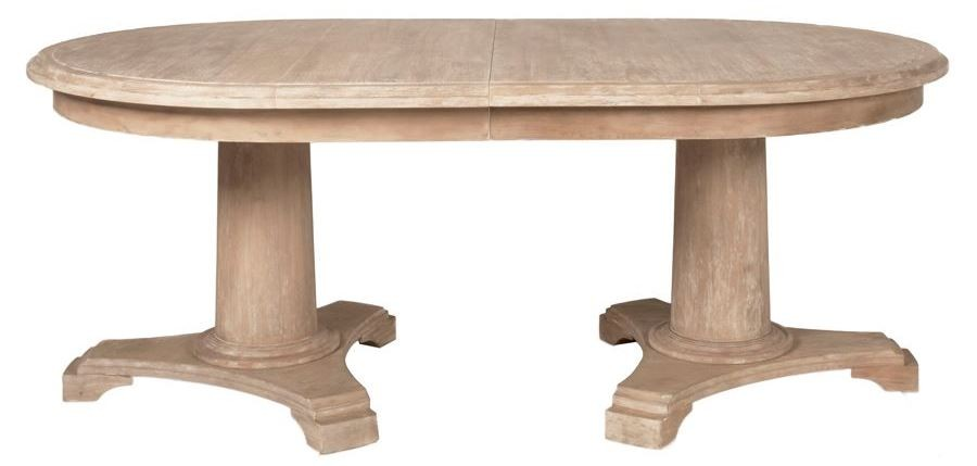 Belmont Stone Wash Oval Extendable Dining Table From