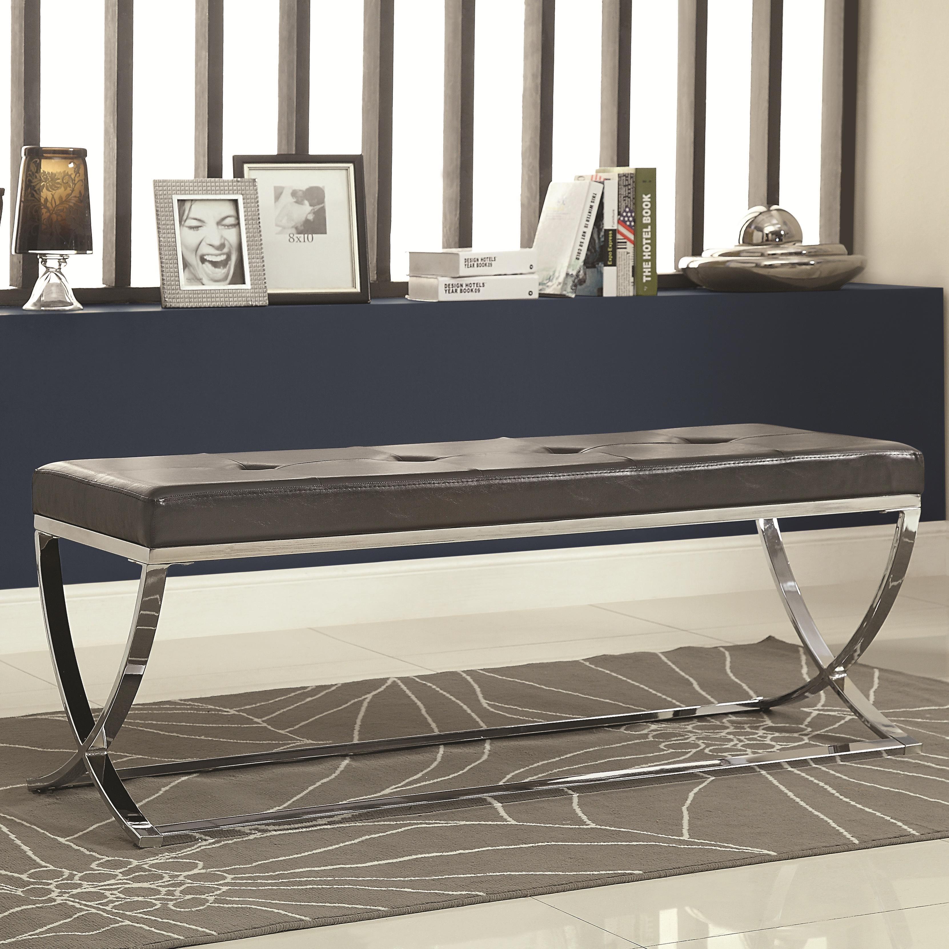 501156 Vinyl Bench From Coaster 501156 Coleman Furniture