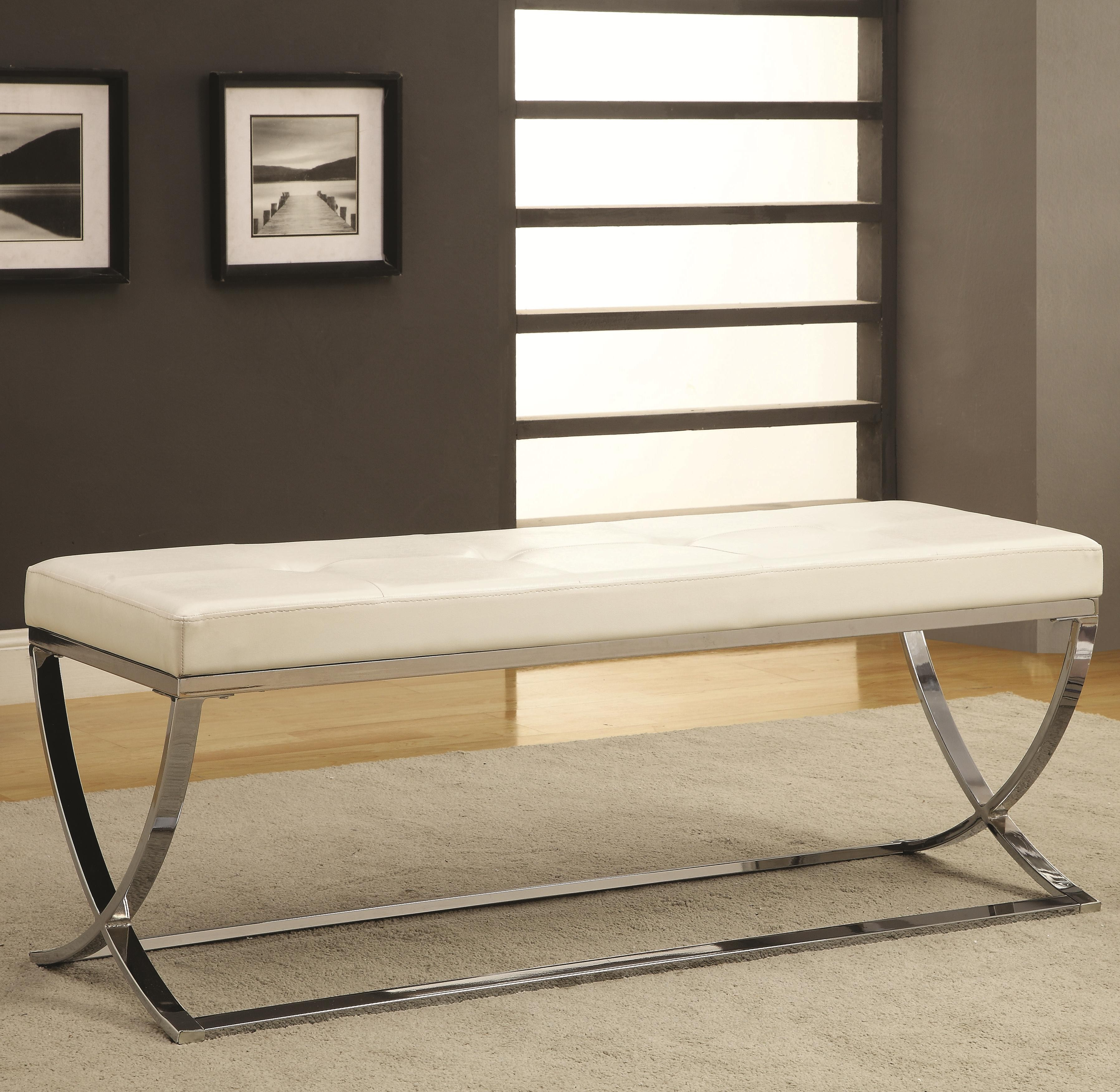 501157 Vinyl Bench From Coaster 501157 Coleman Furniture