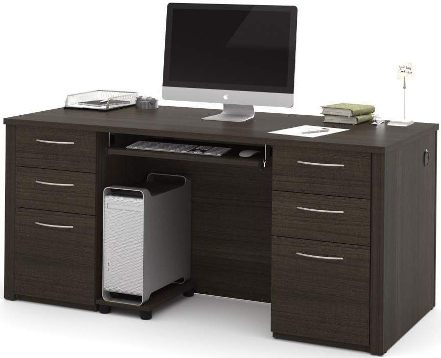 Embassy dark chocolate 66 executive desk kit from bestar for Consul service catalog