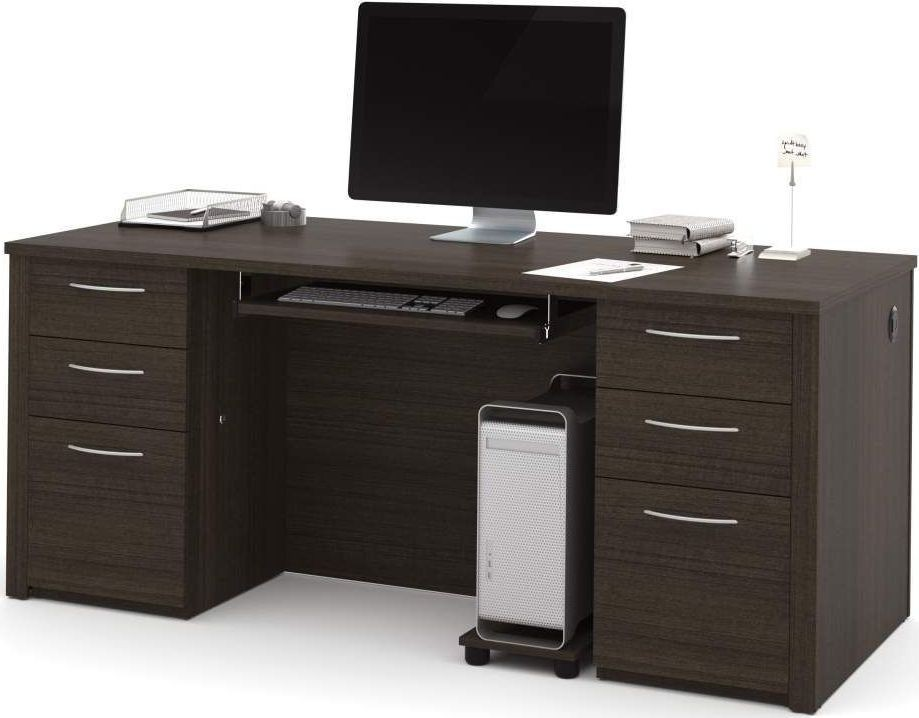 Embassy dark chocolate 71 executive desk kit from bestar for Consul service catalog