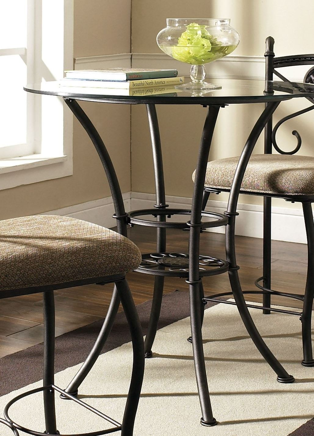 Brookfield Glass Round Counter Height Dining Table from ...