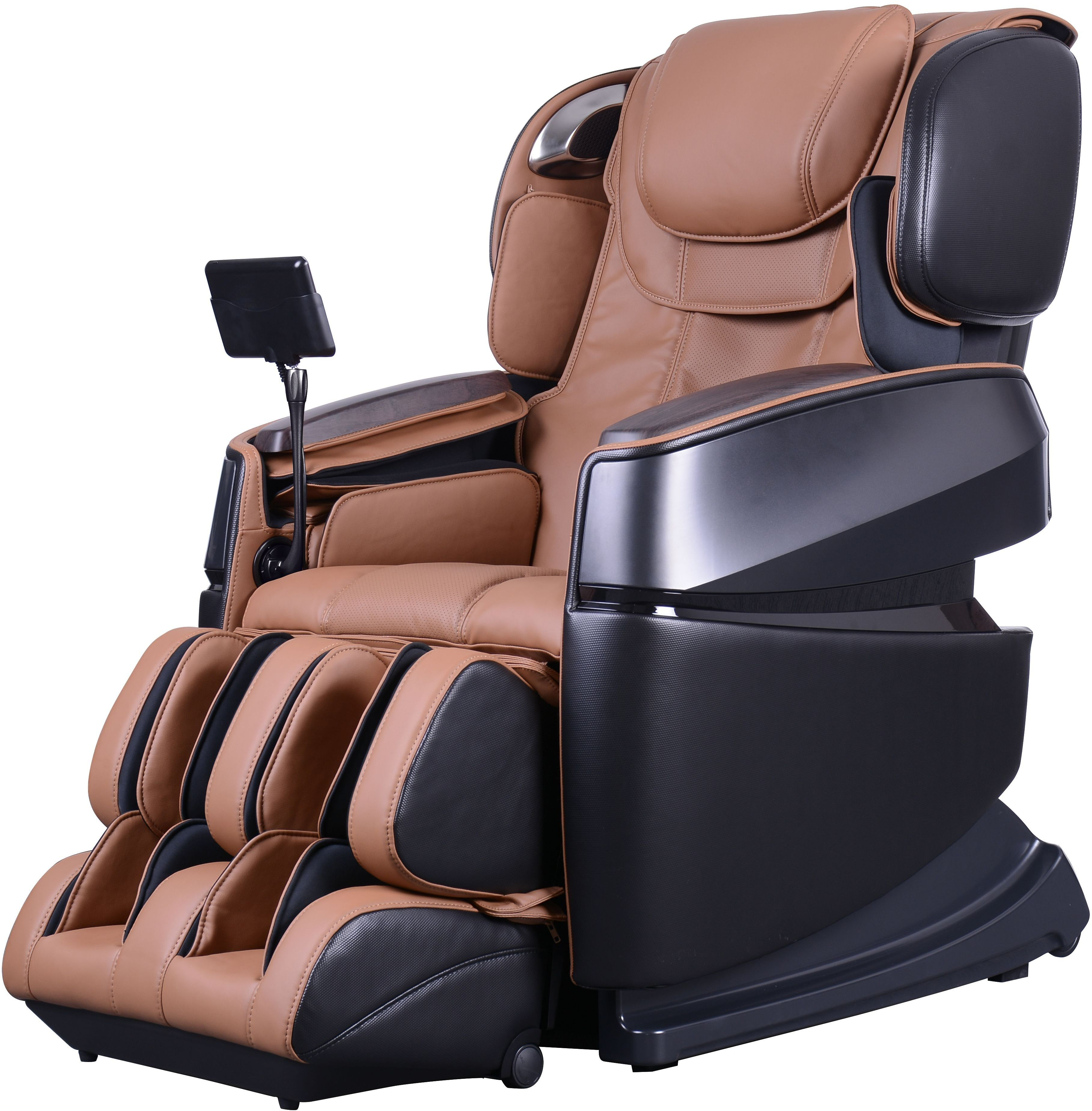 Ogawa Black and Cappuccino Touch 3D Massage Chair from Cozzia