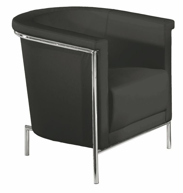 Blanca Black Accent Chair From Bellini Modern Living