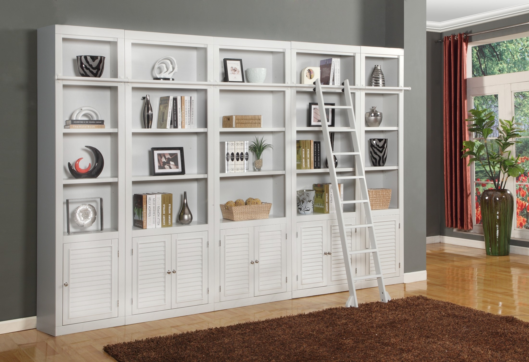 Boca 5 Piece Library Wall Unit From Parker House BOC 420