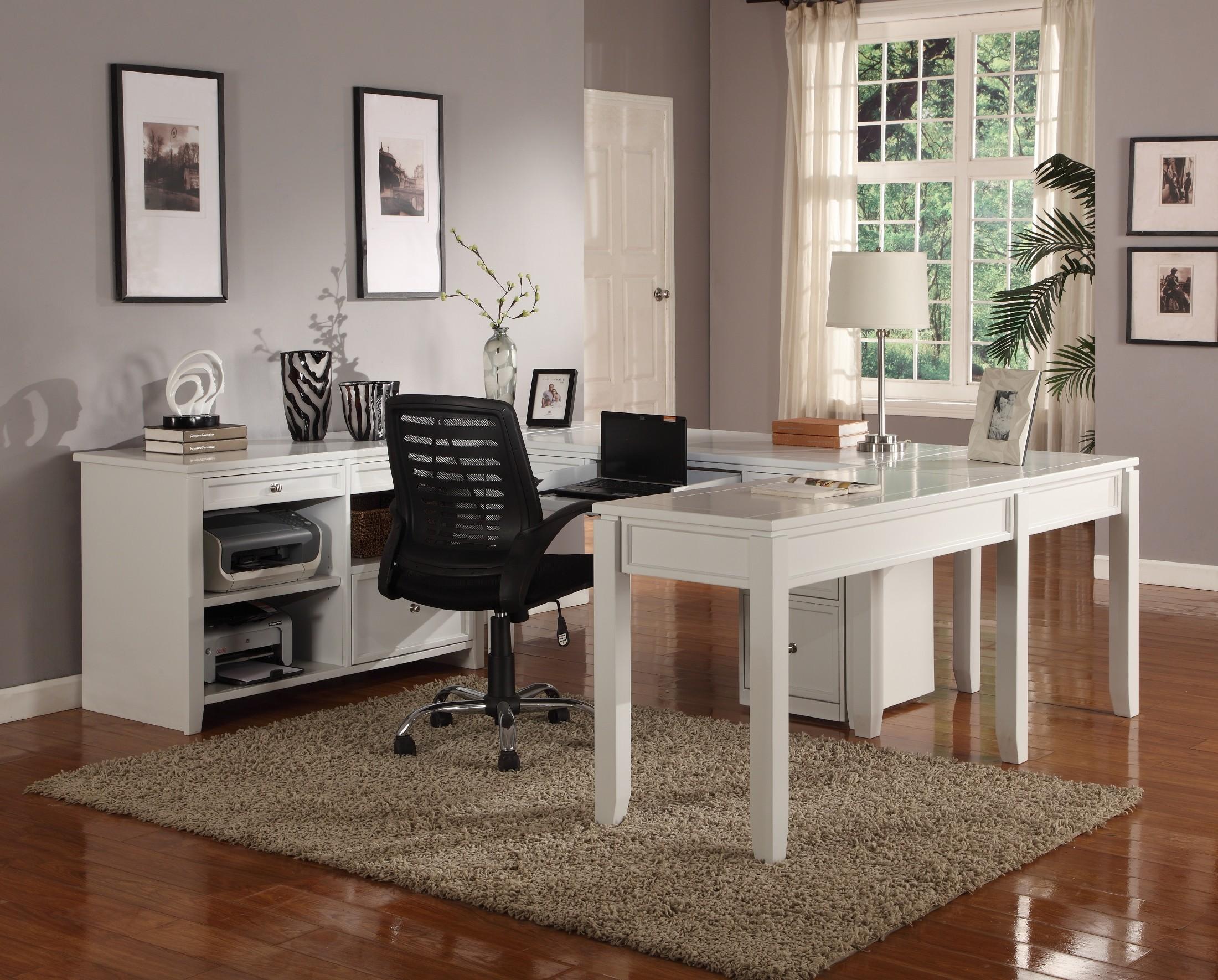 Boca u shape credenza home office set from parker house coleman furniture - Home office mobel ...