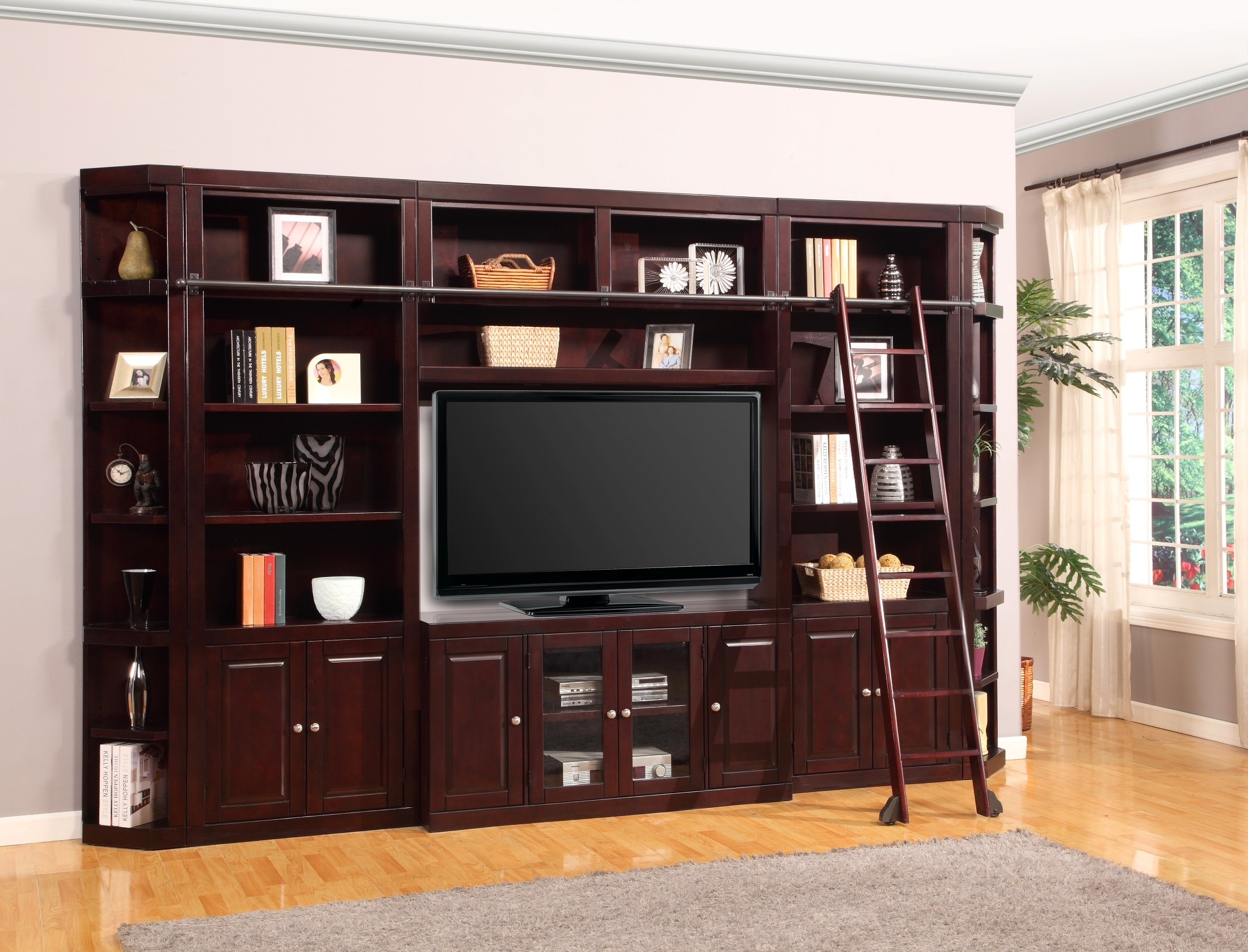 Boston 32 Inch Bookcase Entertainment Wall From Parker