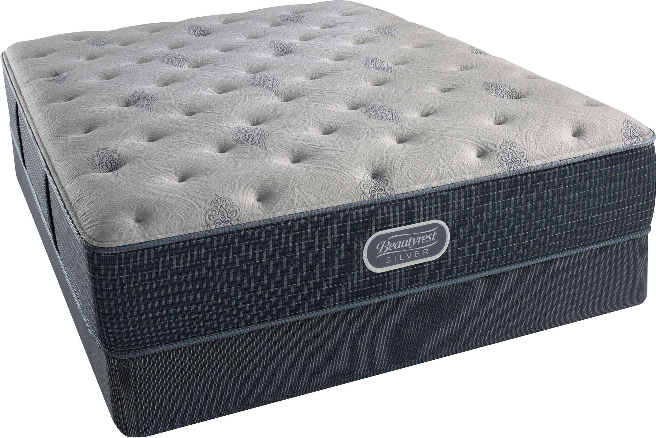 Beautyrest Recharge Silver Comfort Gray Tight Top Plush