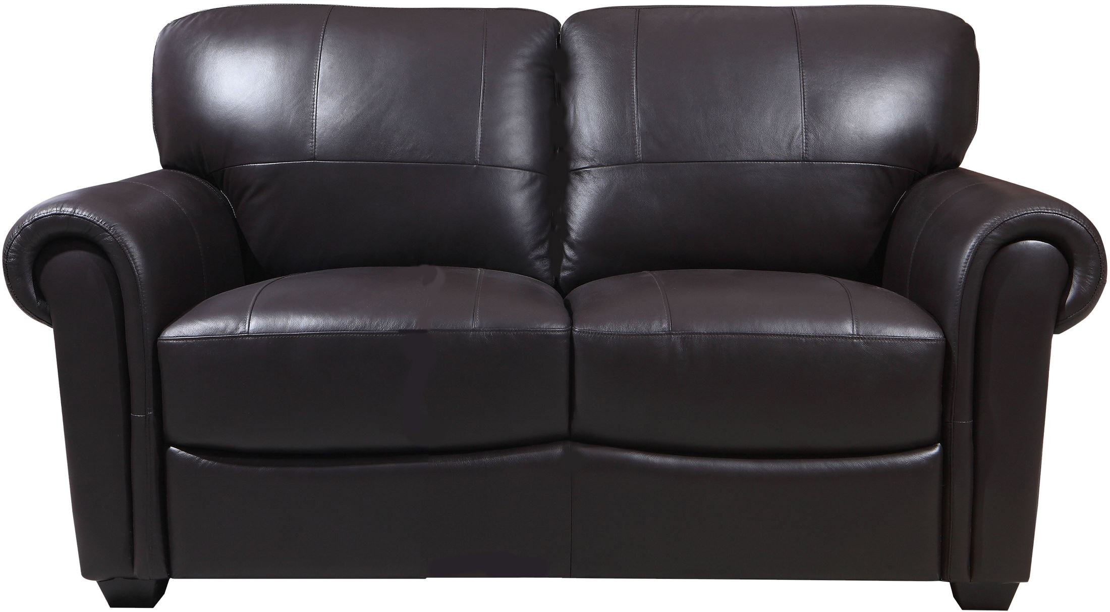 Shae Branson Dark Brown Leather Loveseat From Luxe Leather Coleman Furniture