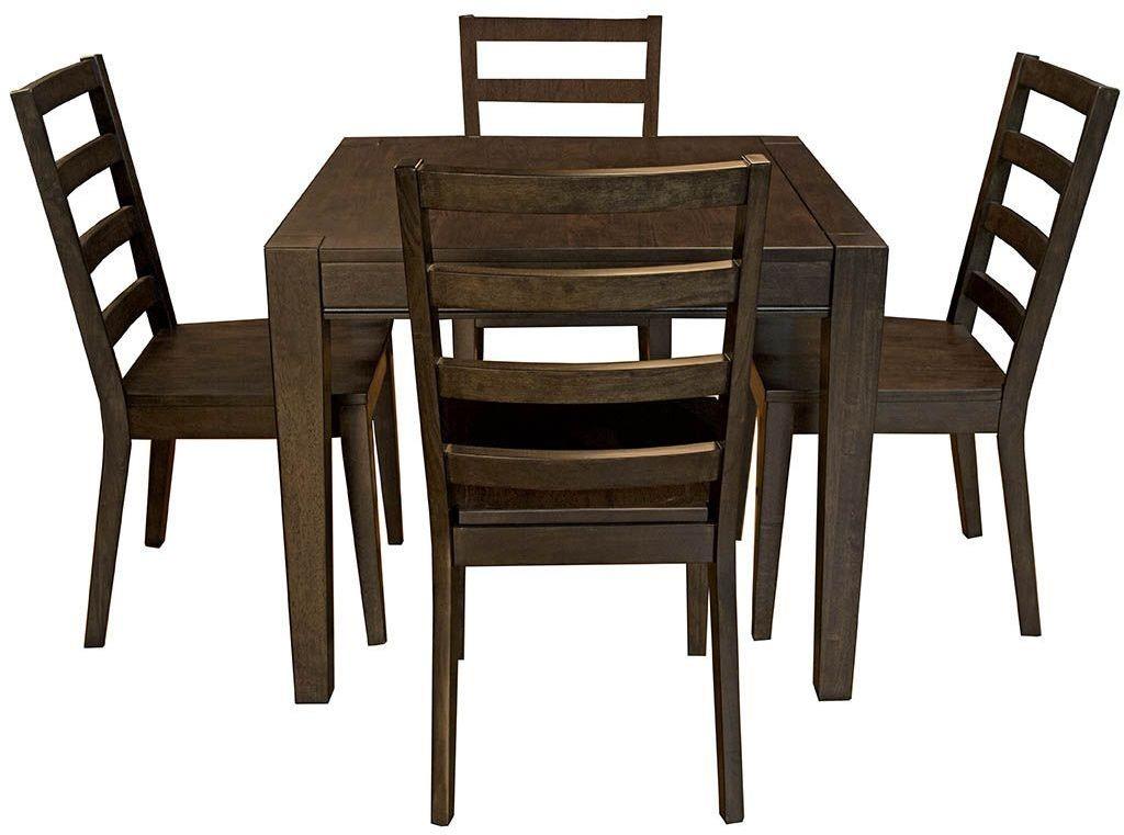 brooklyn heights dark grey extendable square leg dining