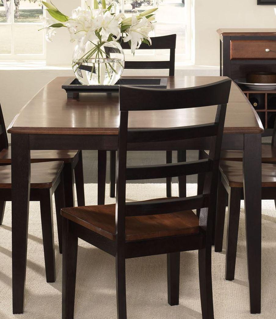 Bristol point 78 oak espresso extendable rectangular for Espresso dining table
