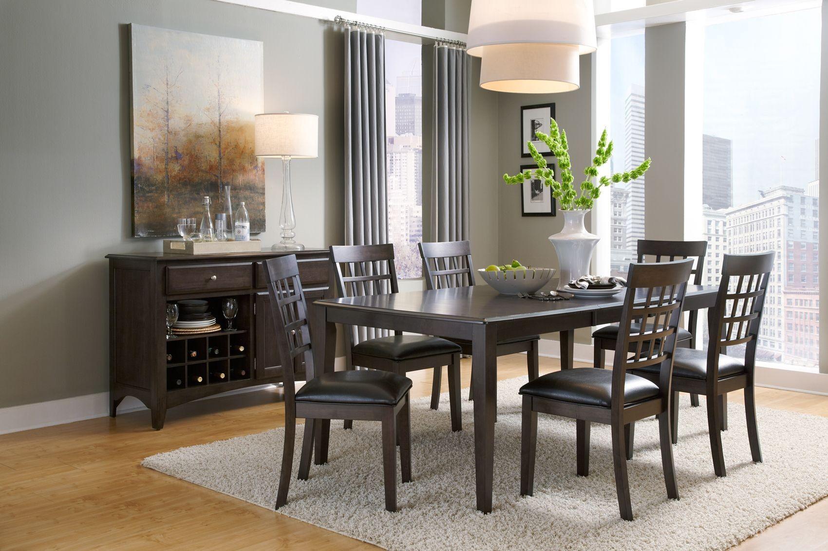 bristol point 78 warm grey extendable rectangular dining. Black Bedroom Furniture Sets. Home Design Ideas