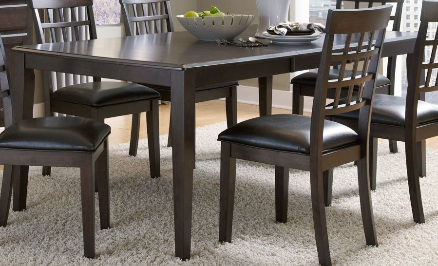 Bristol Point 132 Warm Grey Extendable Rectangular Dining Table