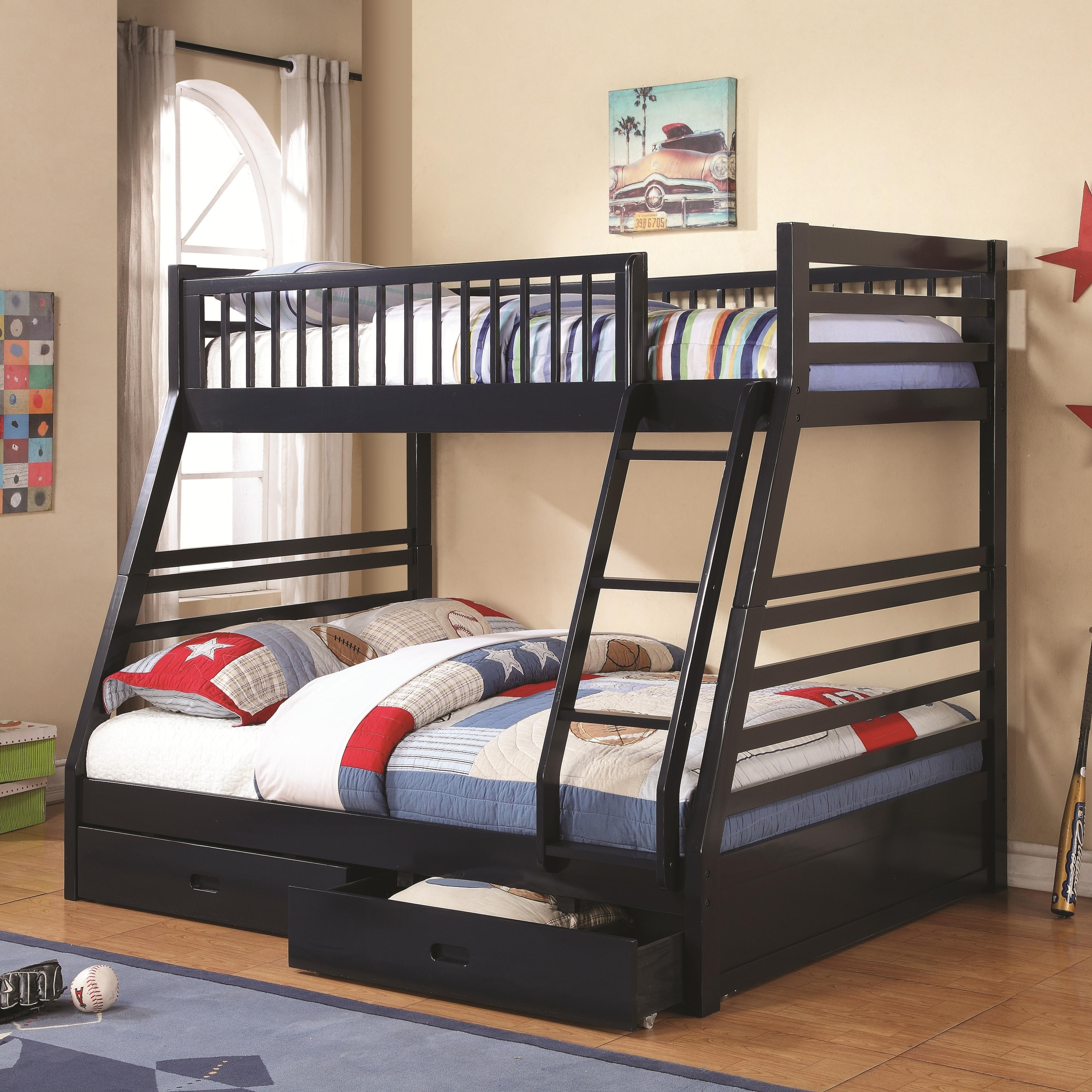 Cooper Bunk Bed Series Navy Blue Bunk Bed From Coaster