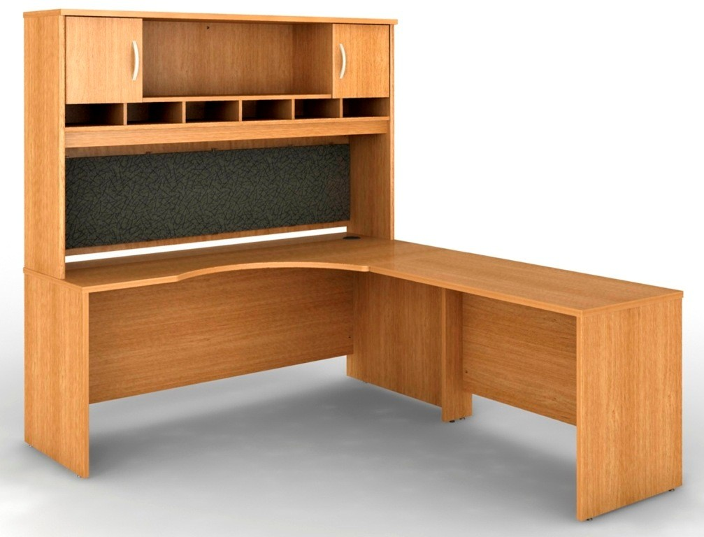 Src002lor Series C Light Oak Office Set From Bush Src002lor Coleman Furniture