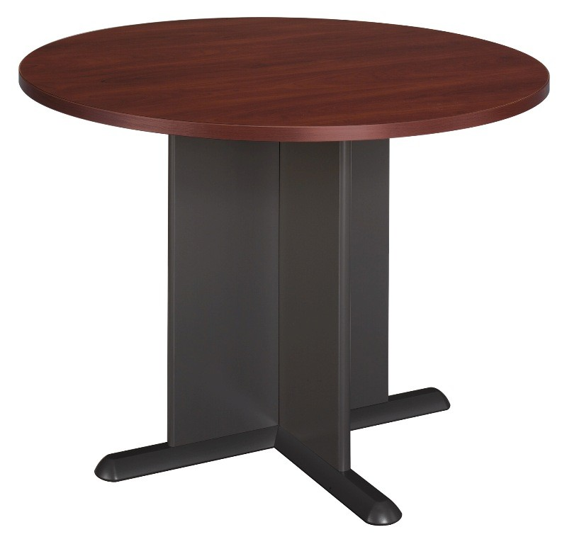 series a hansen cherry 42 inch round conference table from bush tb90442a coleman furniture. Black Bedroom Furniture Sets. Home Design Ideas