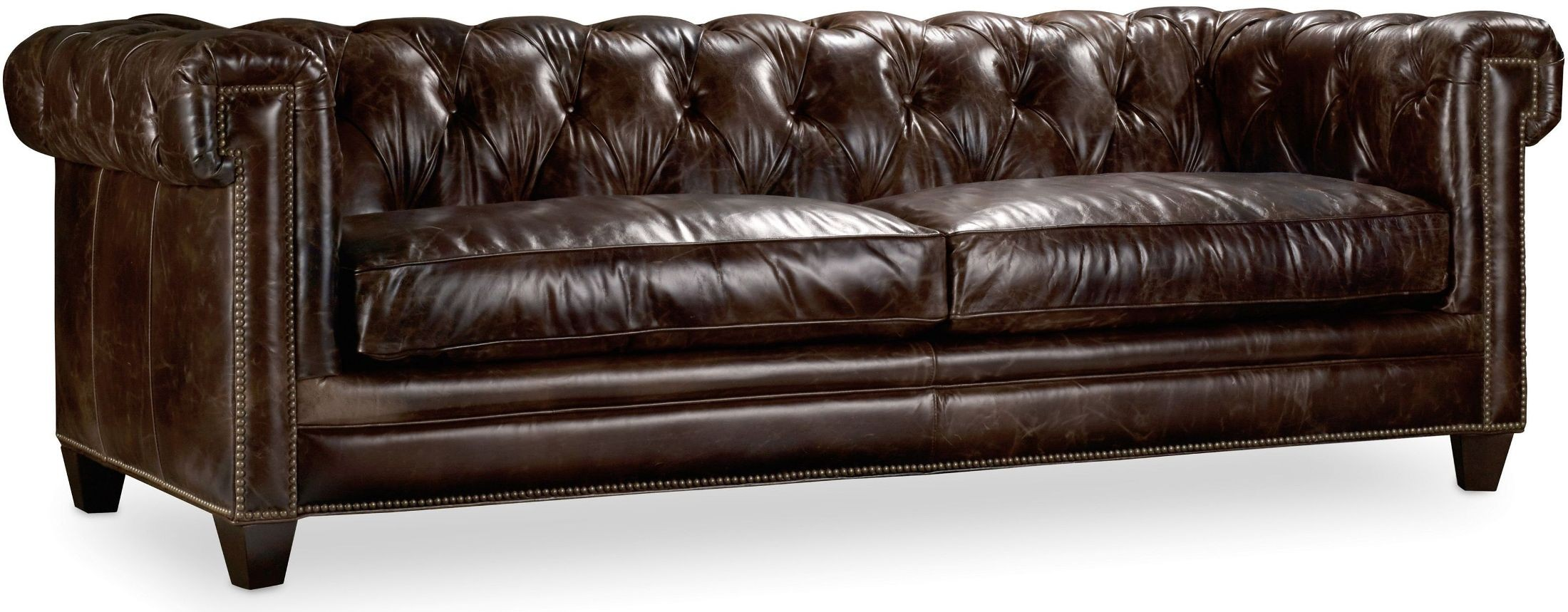 Chester Dark Brown Leather Sofa