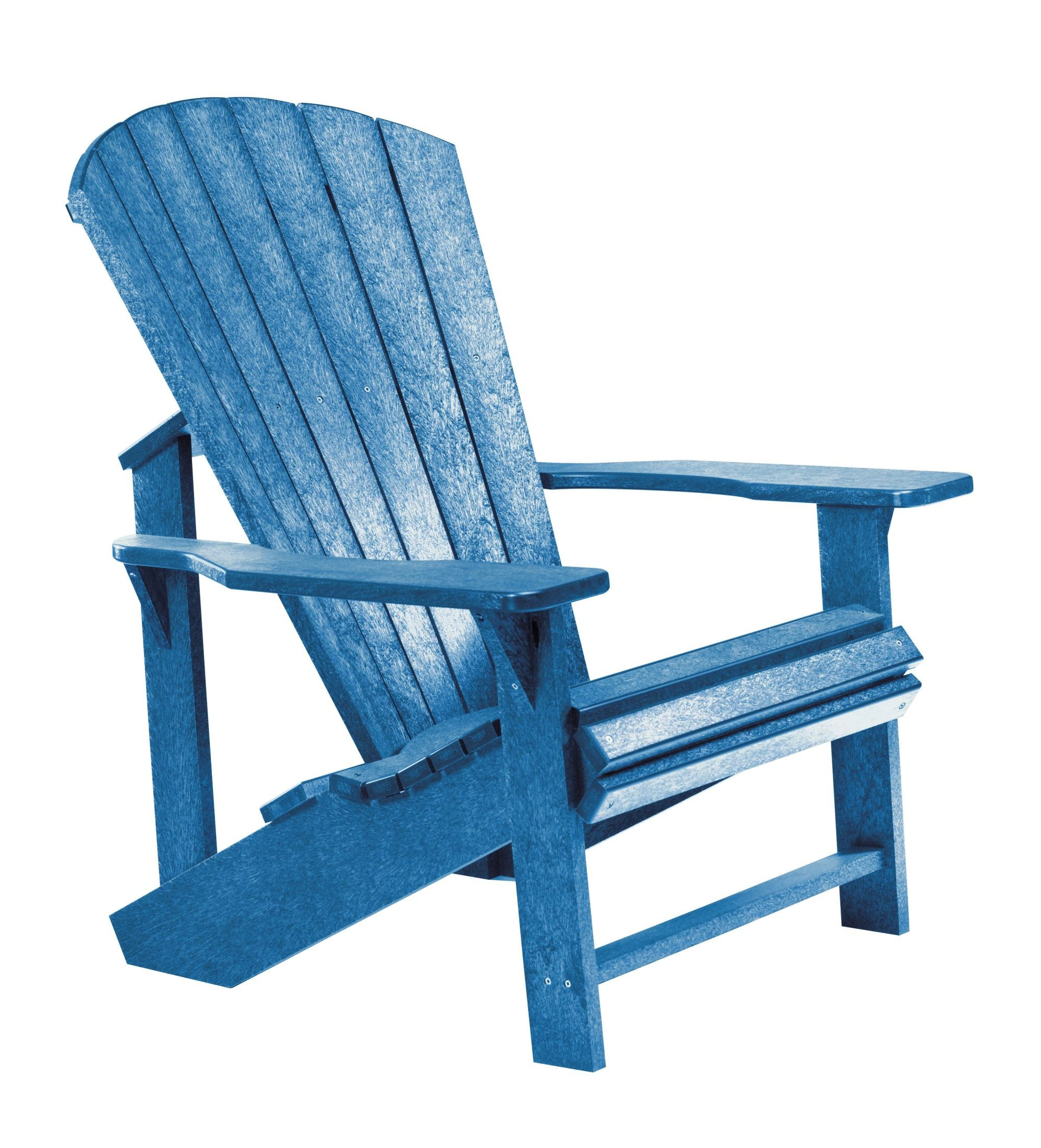 Generations Blue Adirondack Chair From Cr Plastic C01 03
