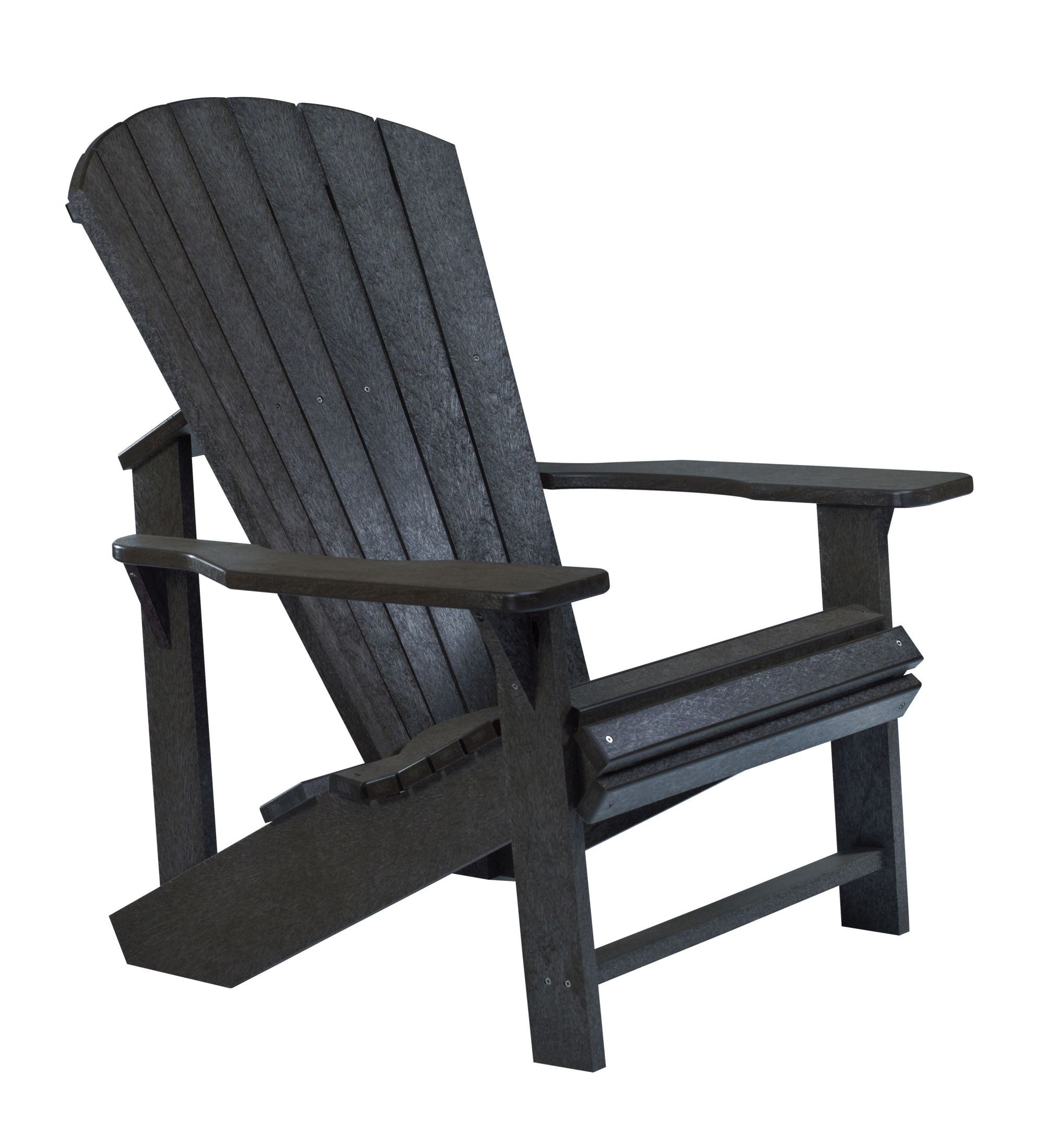 Generations Black Adirondack Chair From Cr Plastic C01 14
