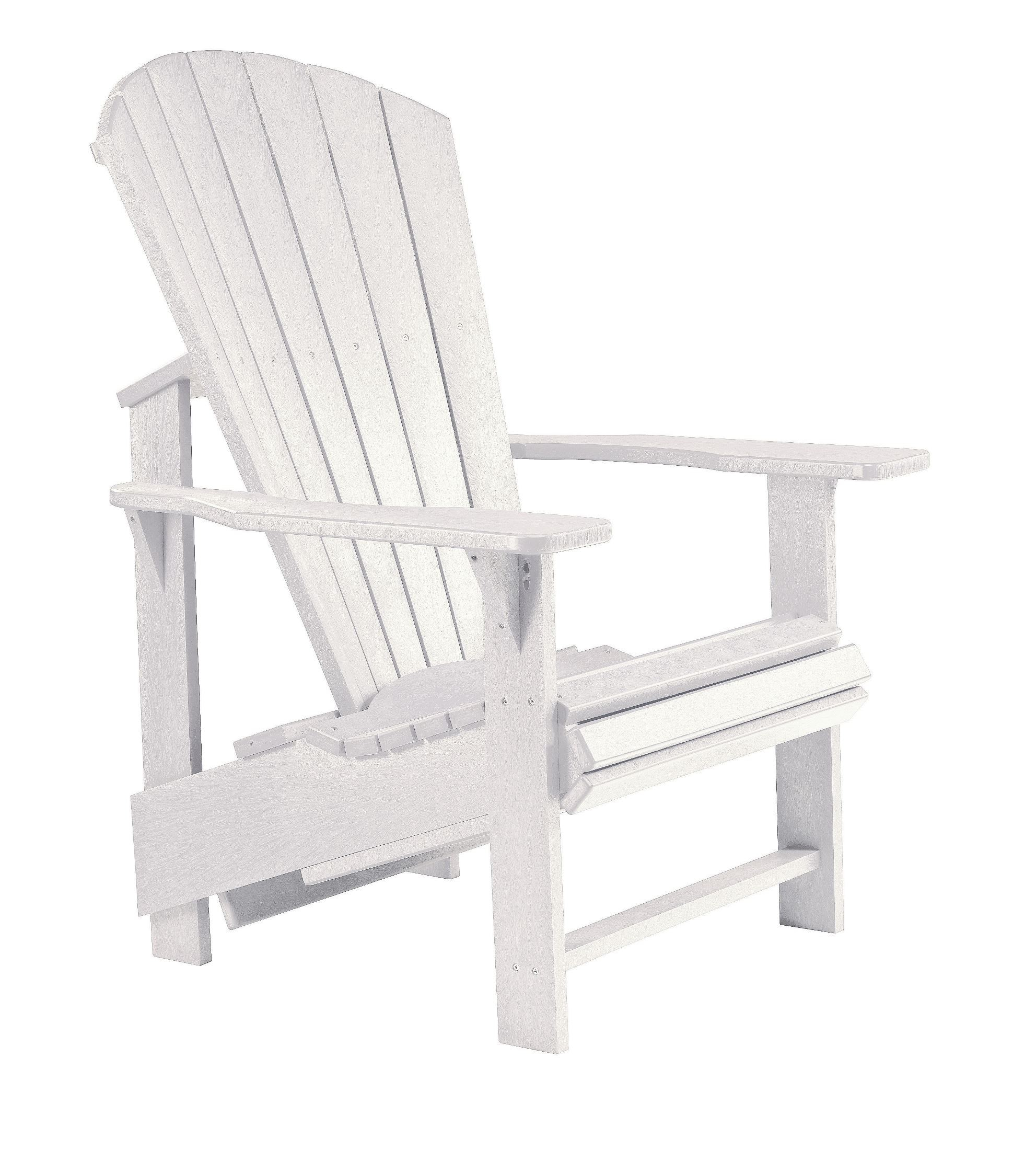 generations white upright adirondack chair from cr plastic c03 02 coleman furniture. Black Bedroom Furniture Sets. Home Design Ideas