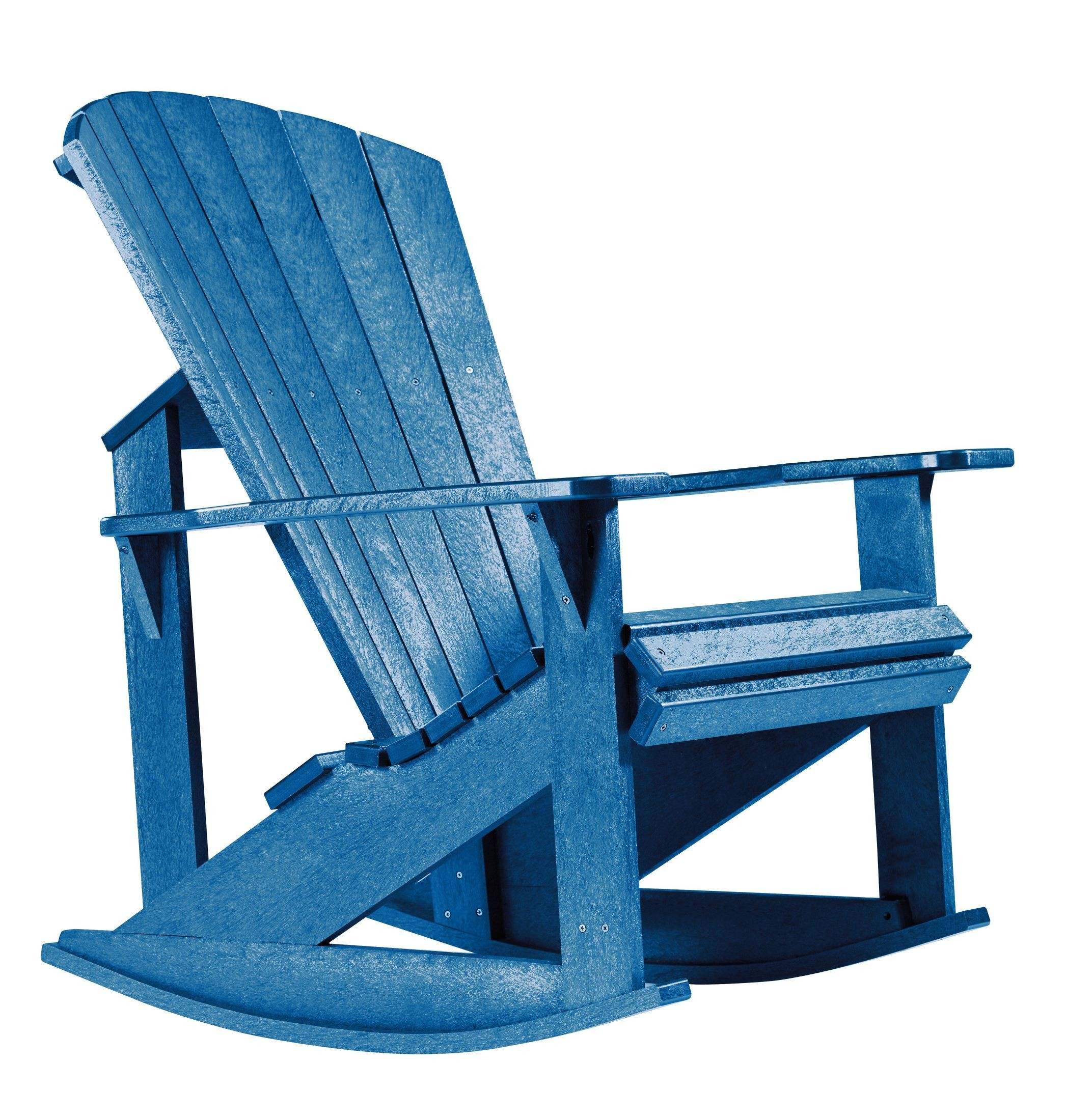 Generations Blue Adirondack Rocking Chair From Cr Plastic