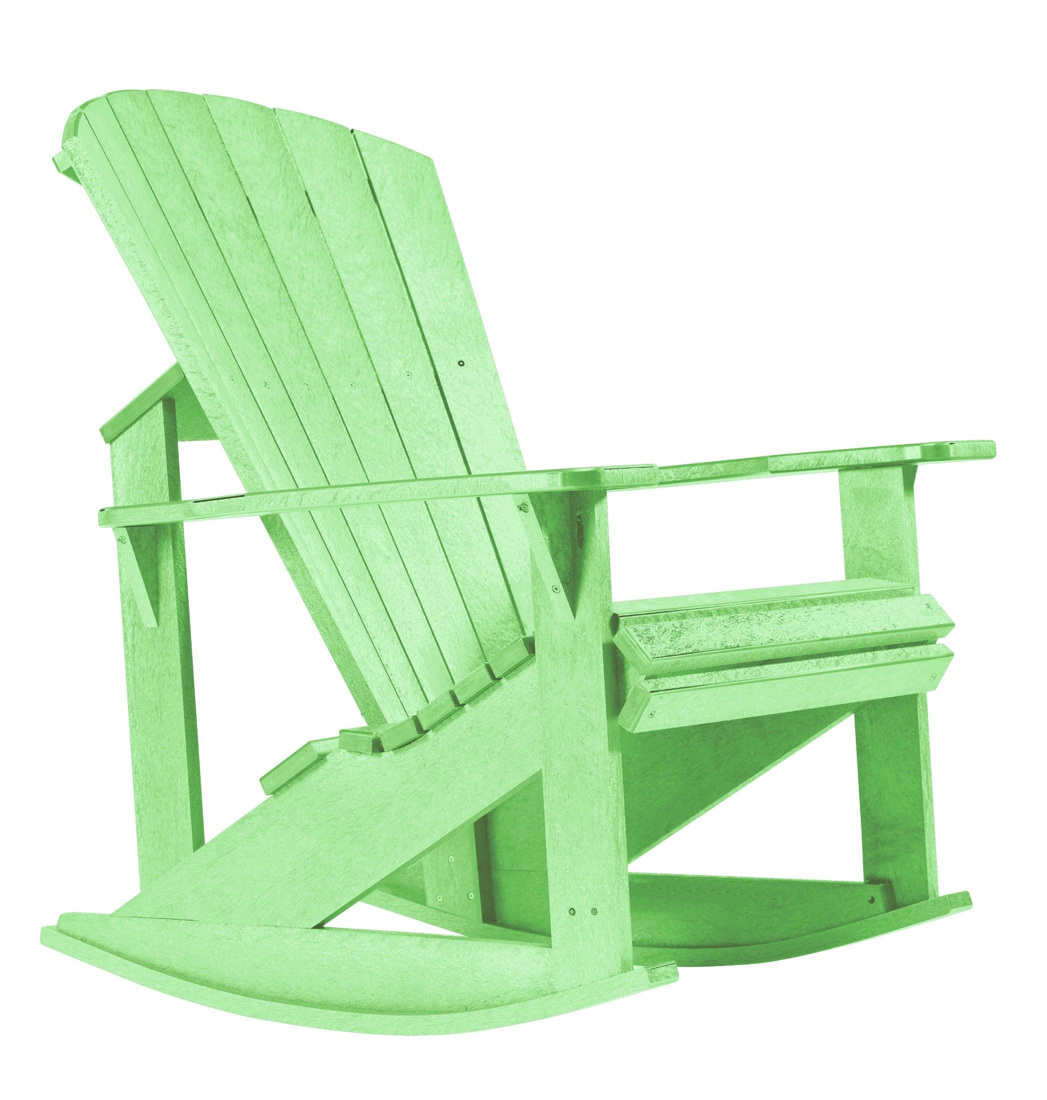 Generations lime green adirondack rocking chair from cr plastic c04 15 coleman furniture - Green resin adirondack chairs ...