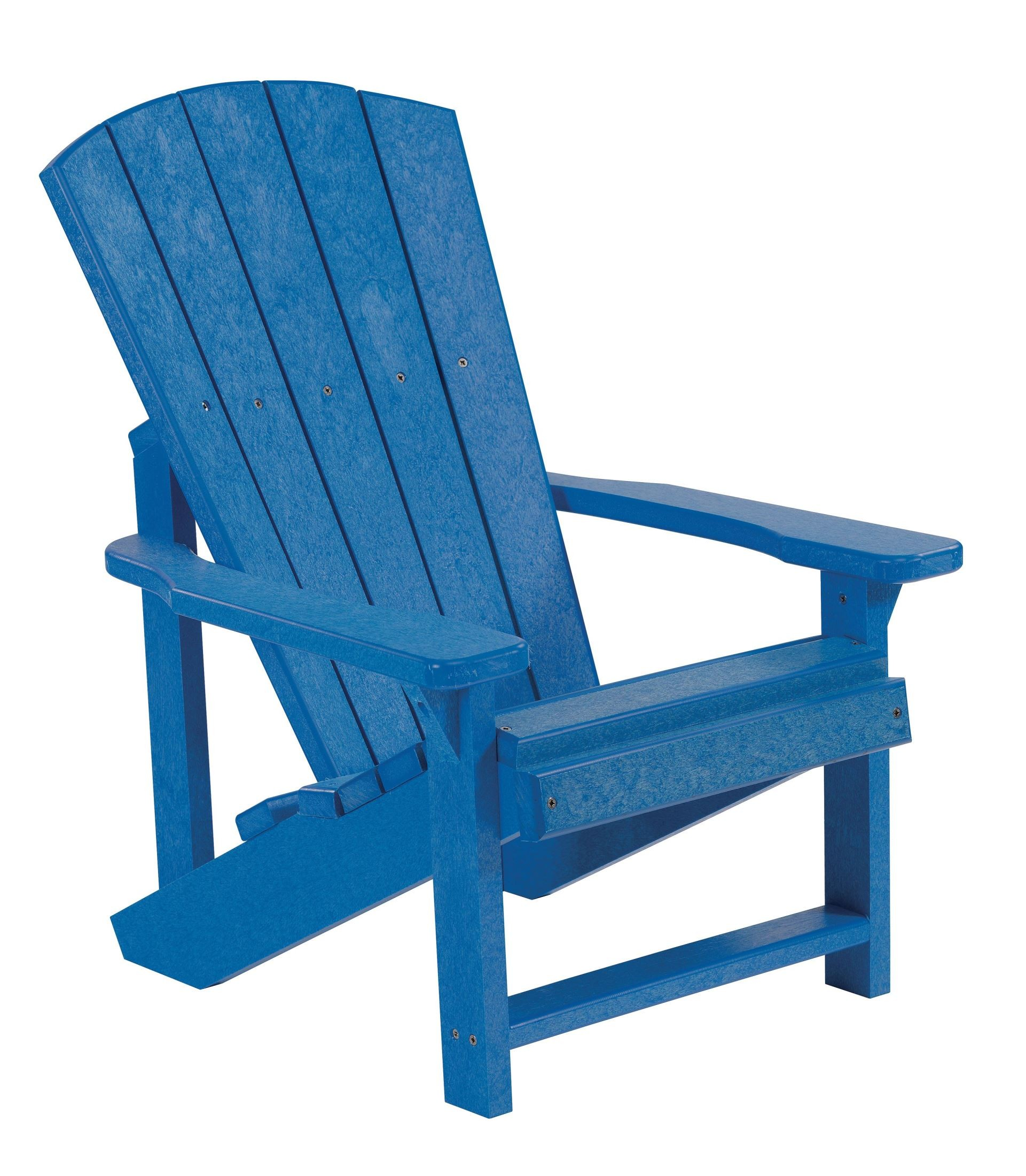 Generations Blue Kids Adirondack Chair From Cr Plastic