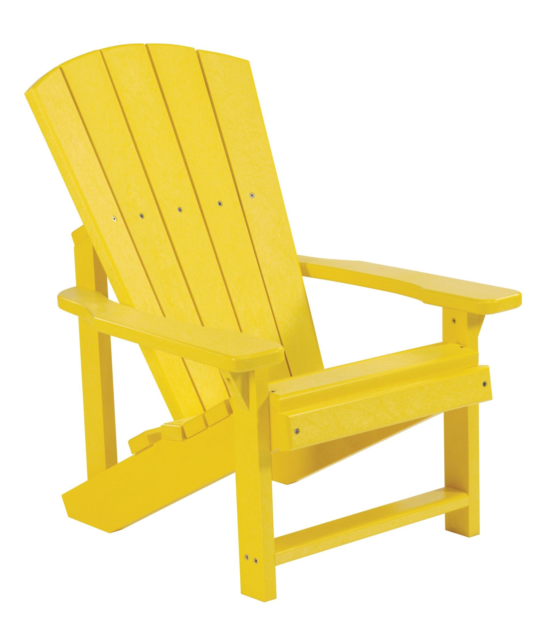 Generations Yellow Kids Adirondack Chair From Cr Plastic